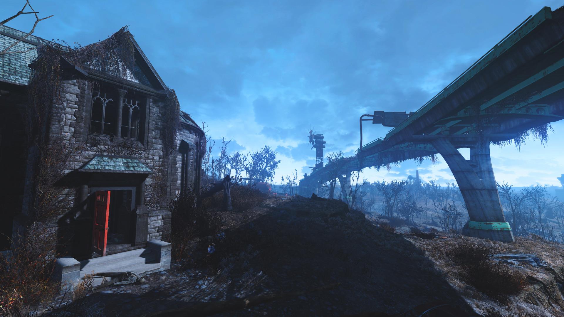 Fallout 4 HD Wallpaper Creepy House
