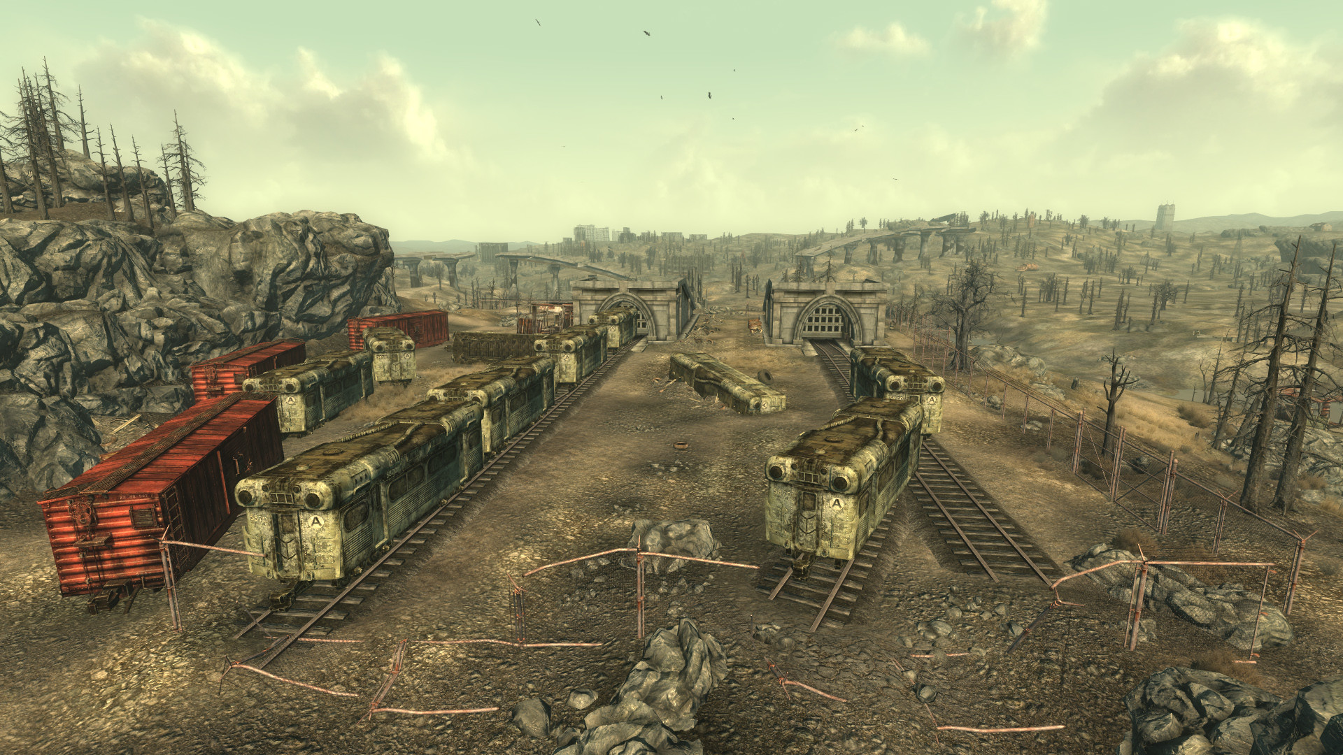 abandoned train yards hd wallpaper for your desktop background or .
