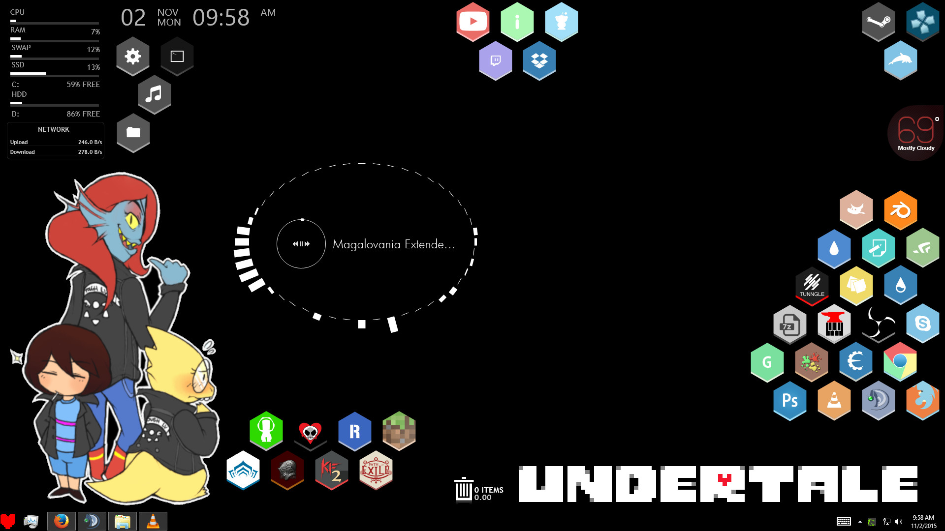 … made an organized Undertale theme, and couple of Honeycombs for you  fine folks!