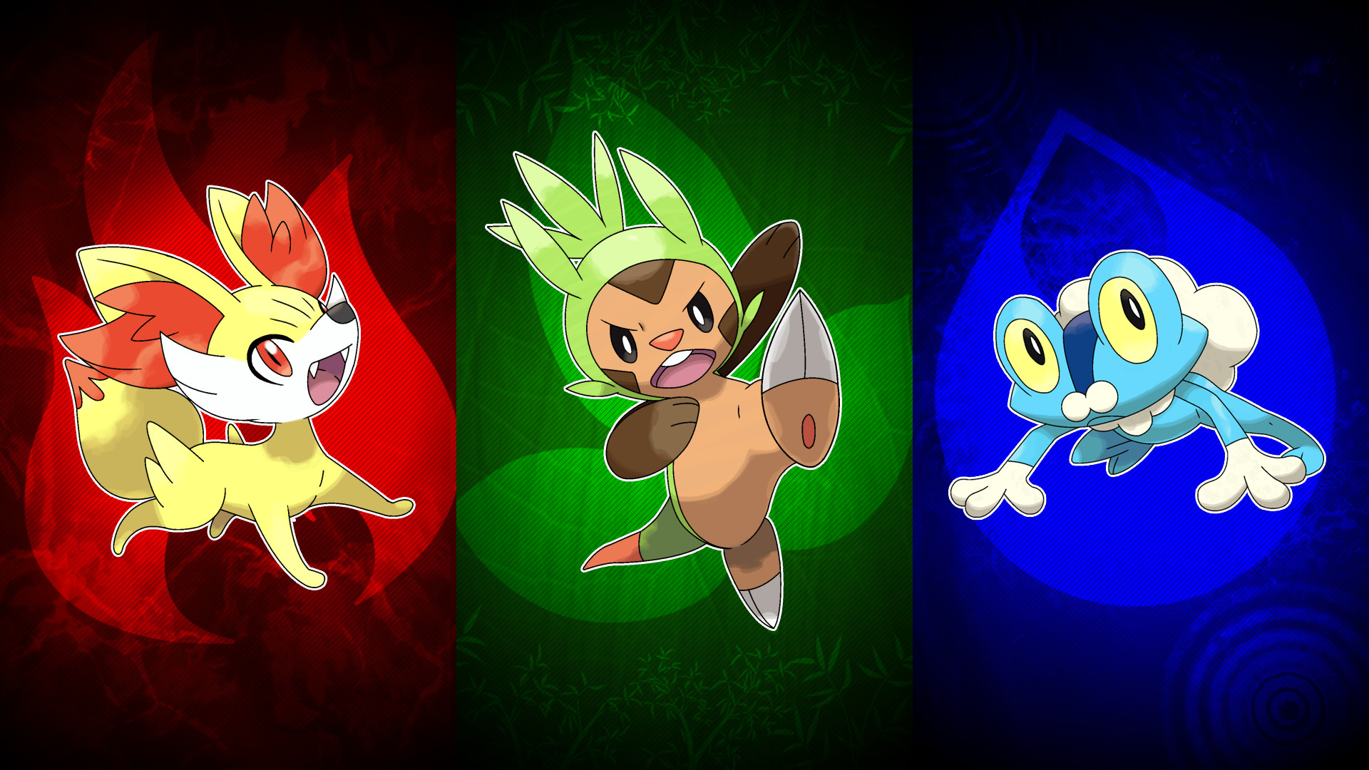 … Pokemon X and Y Starters Wallpaper by UnlethalMango