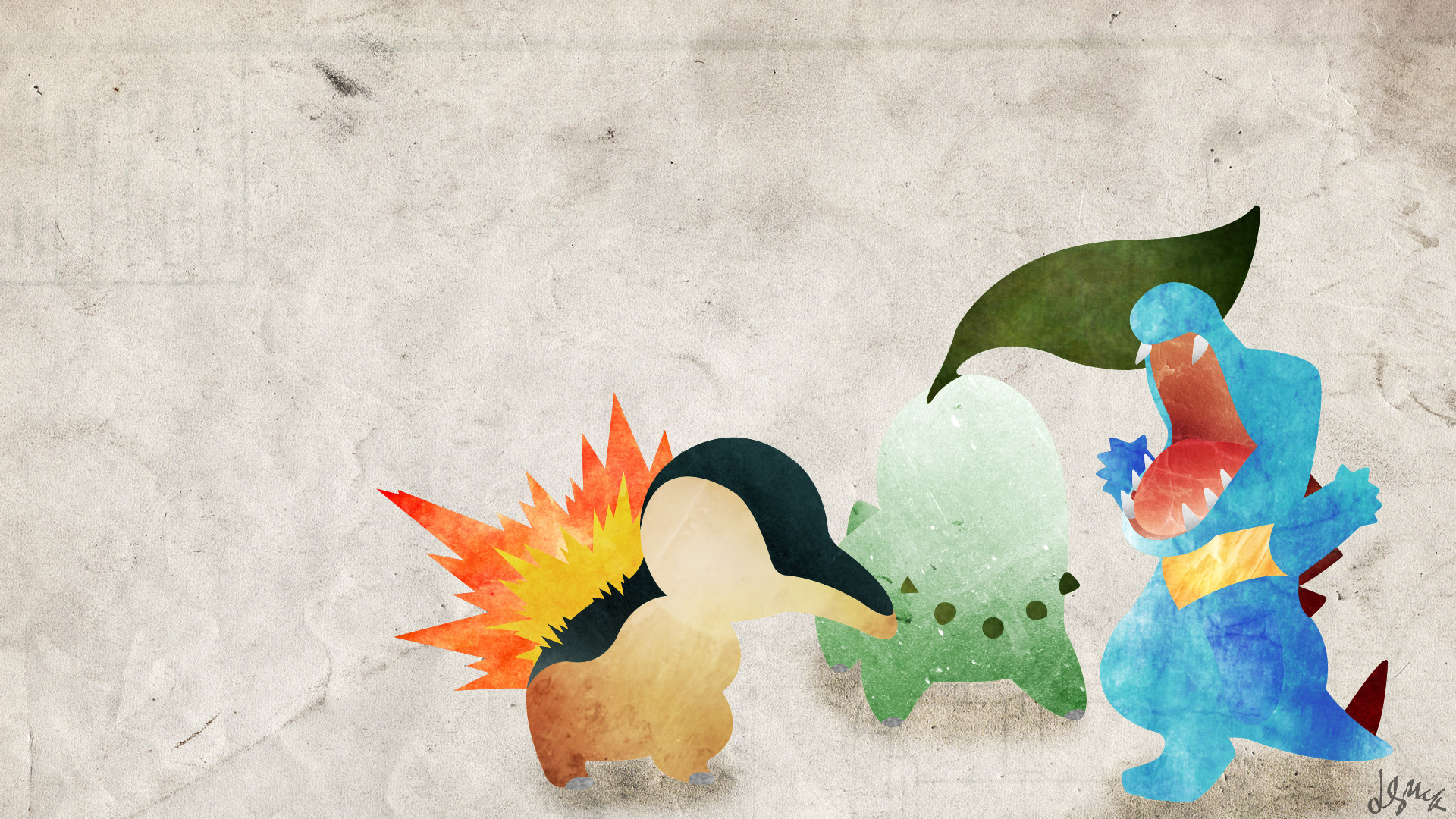 Johto Starters – Pokemon by doubleu42 Johto Starters – Pokemon by doubleu42