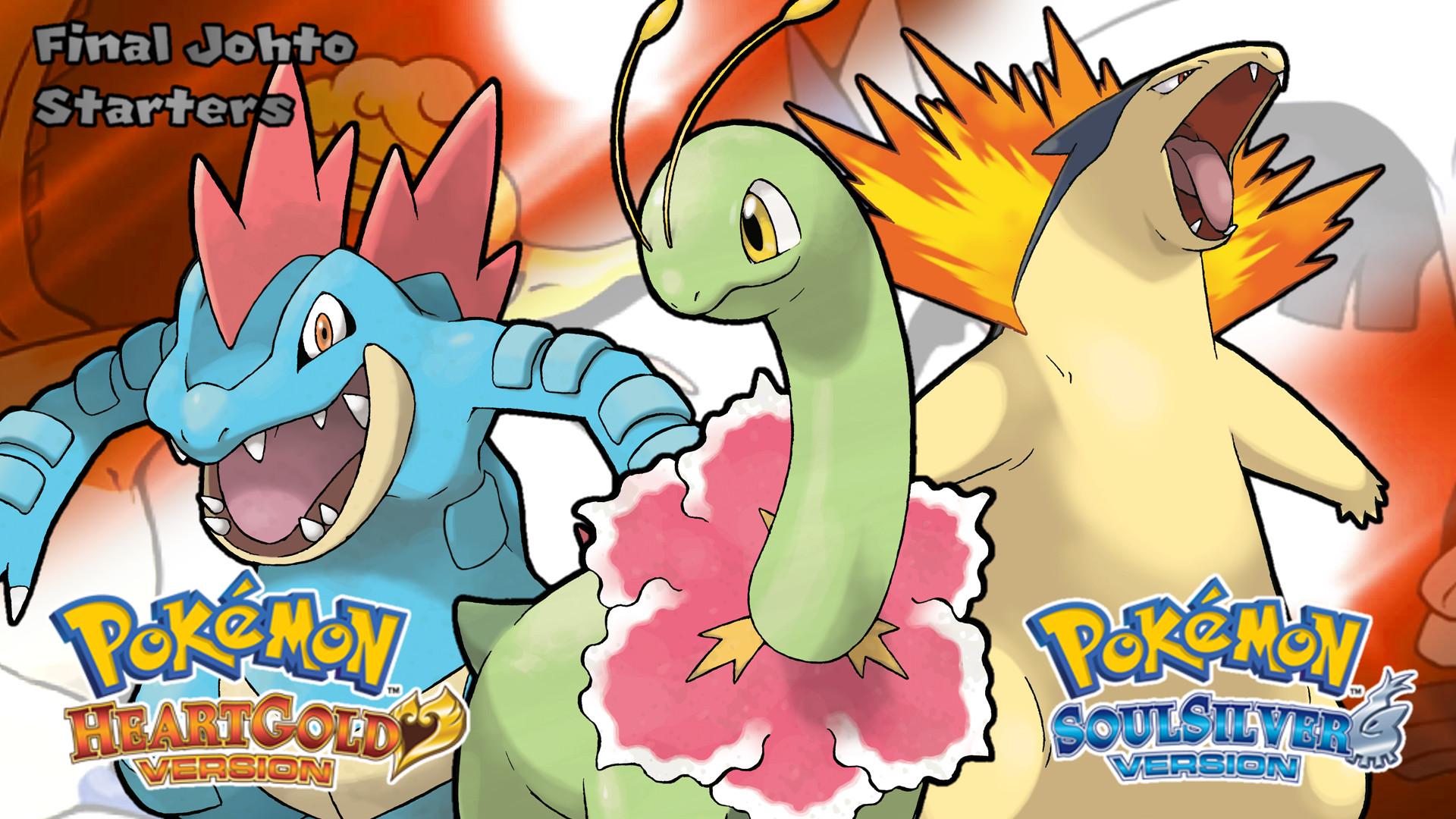 … Pokemon HGSS- Final Johto Starters Wallpaper by MattPlaysVG