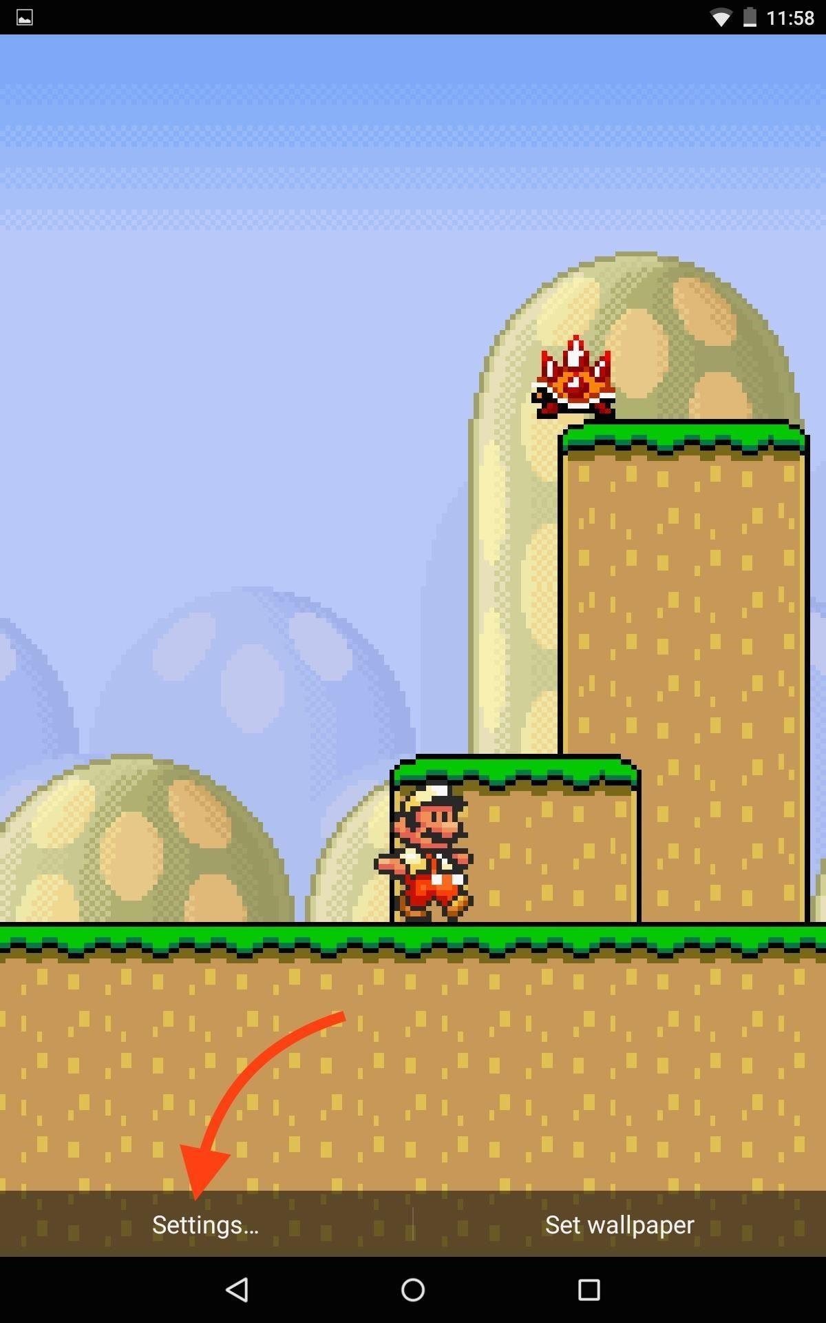 Step 4Adjust Mario Live Wallpaper