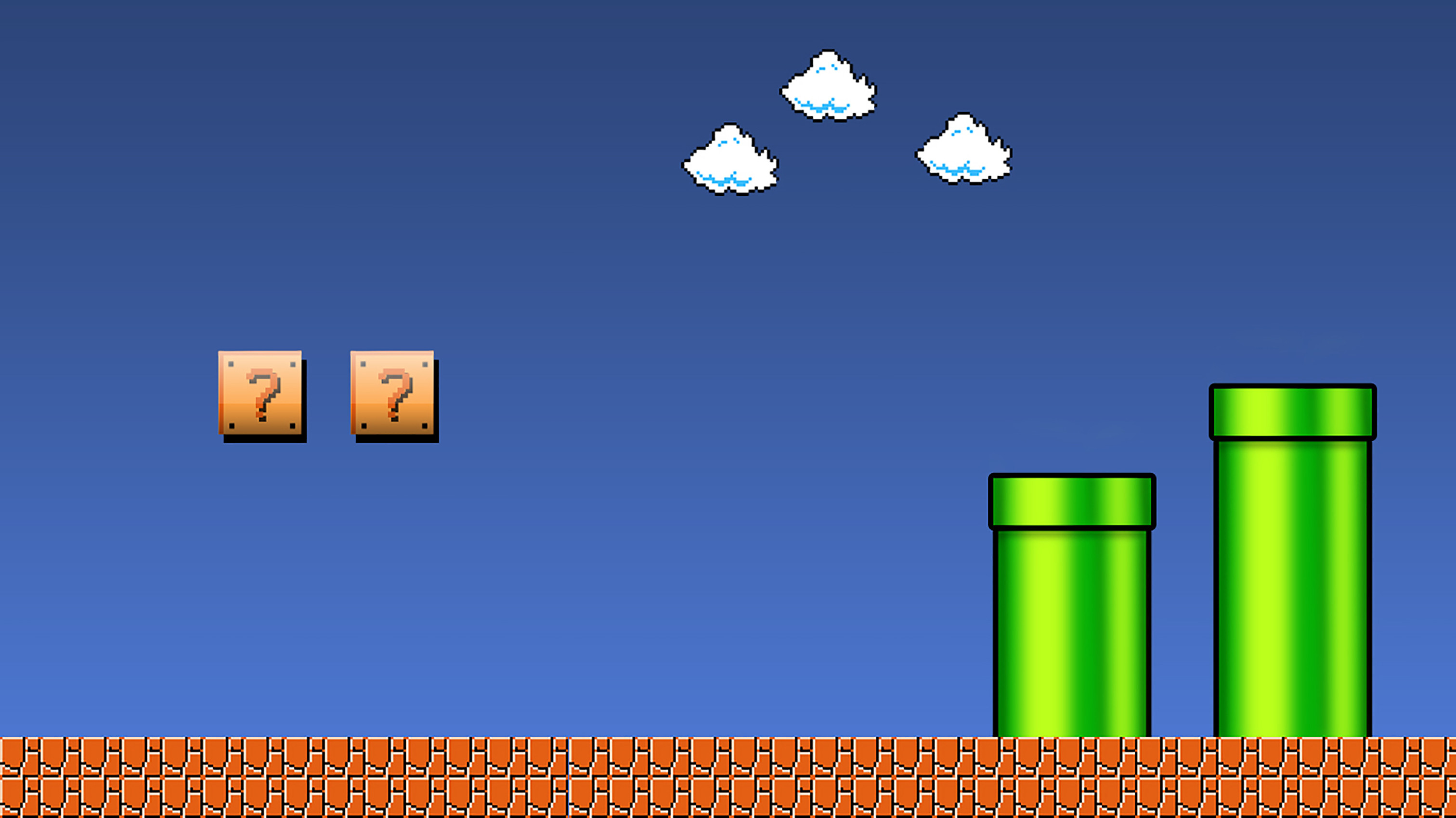 Super Mario Brothers Wallpaper created in Photoshop