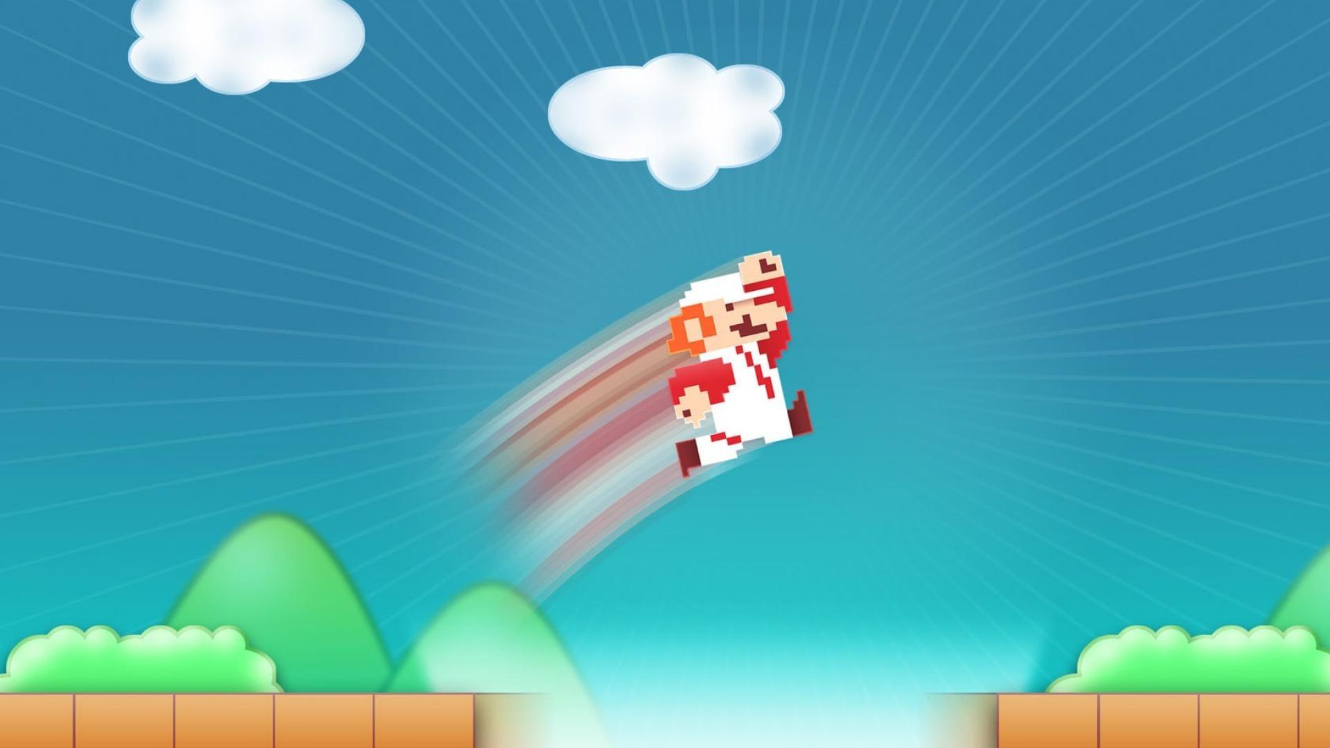 mario bross 2D games jump widescreen HD Wallpaper wallpaper .
