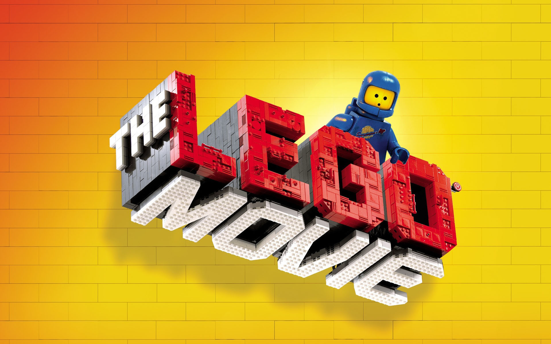 The Lego Movie Videogame Logo with the Blue Classic Spaceman  wallpaper