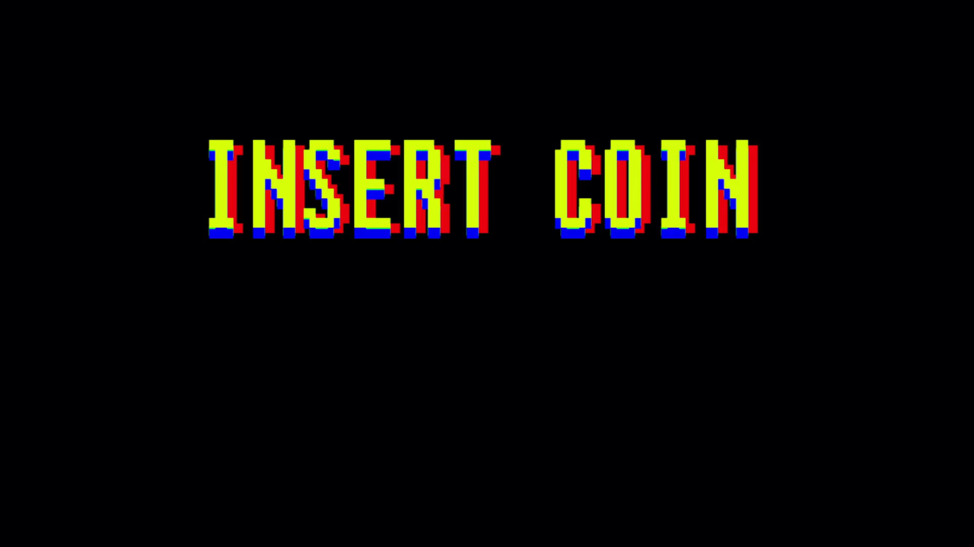 Insert Coin Classic Arcade Screen. Game Over in text titles. Classic  arcade, vintage, retro video game style. Also available in a version  processed through …