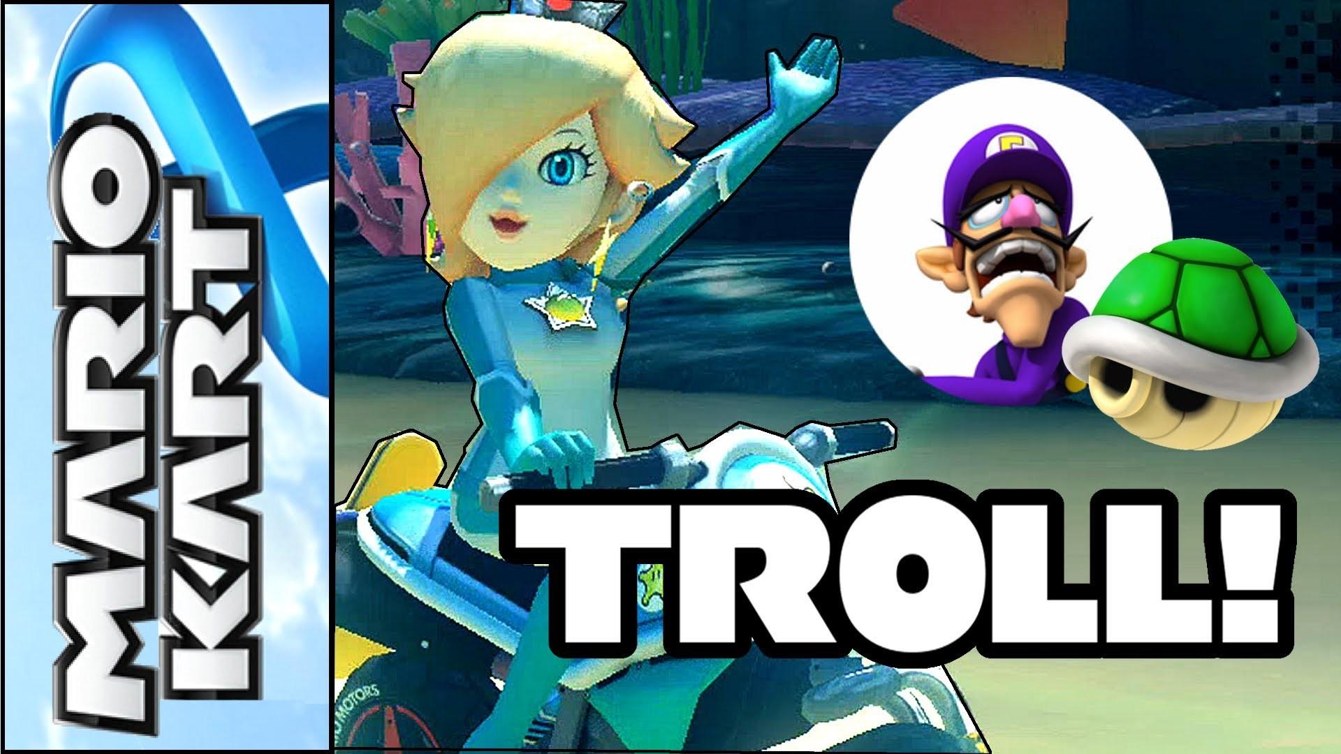 Mario Kart 8 – Rosalina trolls Waluigi at the Finish Line – Funny Moments  (Wii U Gameplay) – YouTube