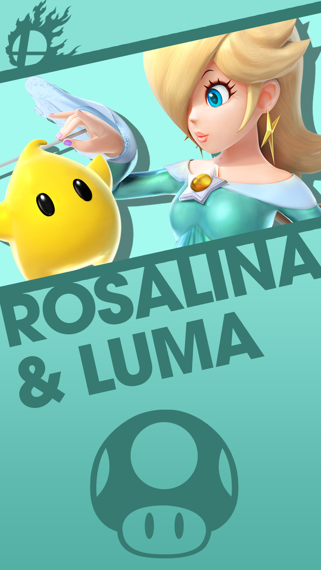 Phone Wallpaper by MrThatKidAlex24 Rosalina and Luma Smash Bros. Phone  Wallpaper by MrThatKidAlex24