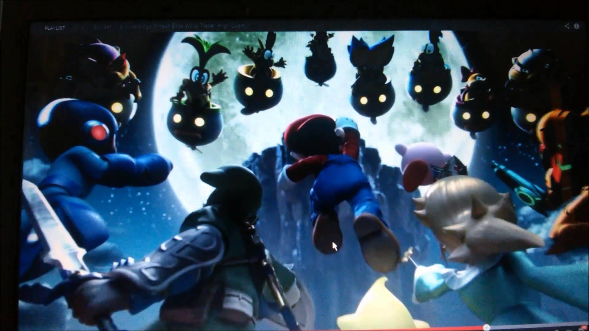 Mario, Luigi, Peach, Daisy, Rosalina, and Zelda/Sheik watch: Bowser Jr. and  Mewtow Trailer