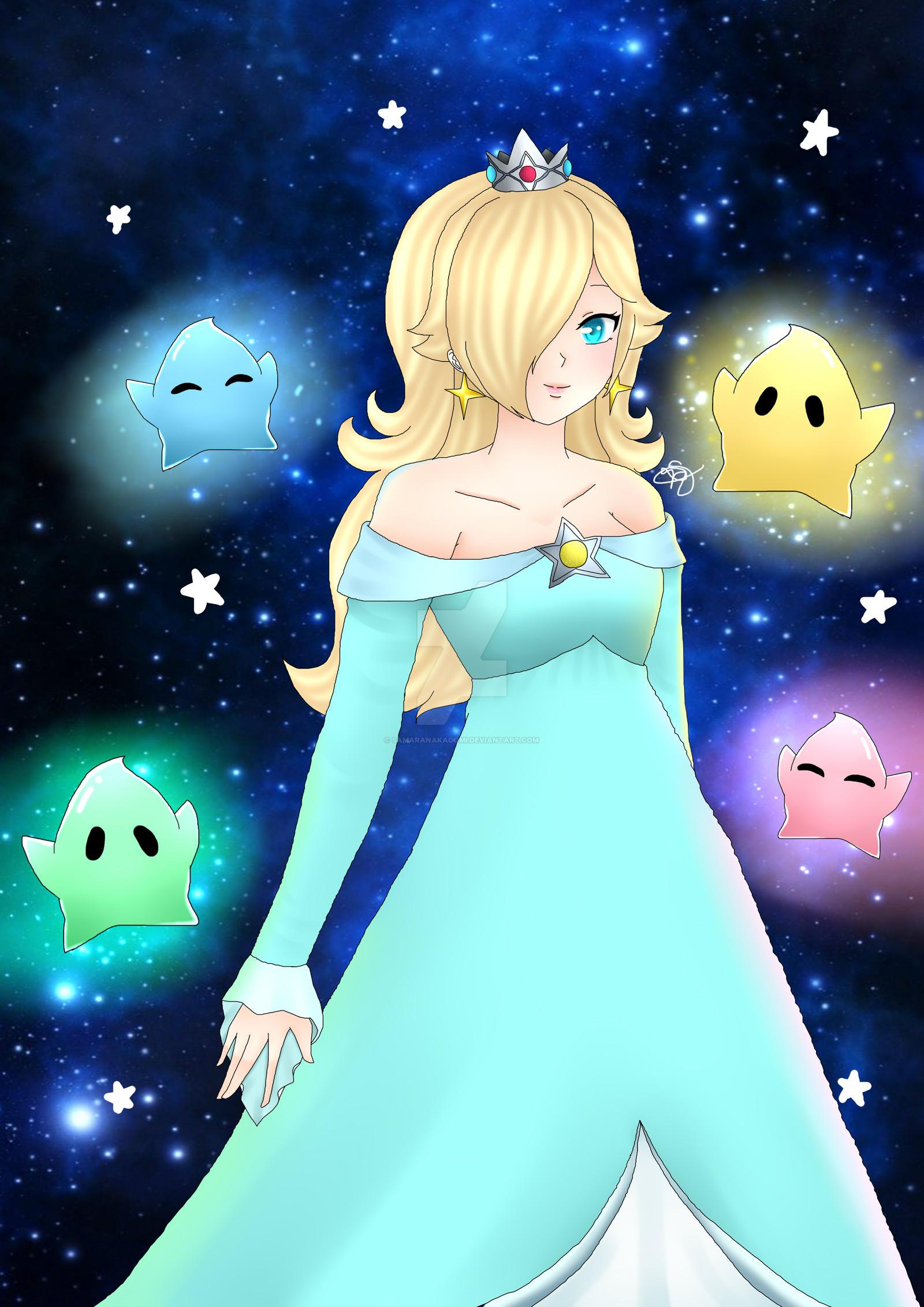 … Rosalina-Mario Galaxy fanart by SamaraNakagomi