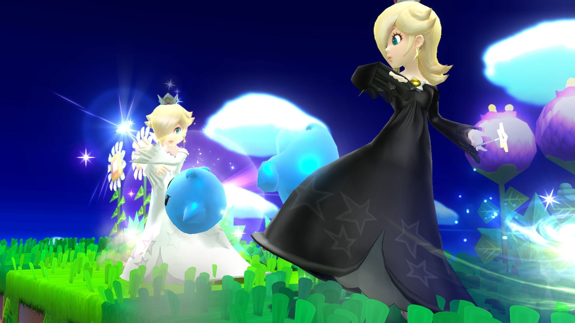 Monochrome Rosalina A Rosalina and Luma Super Smash Bros. for Wii U (SSBU)  Skin Mod submitted by amphetavin