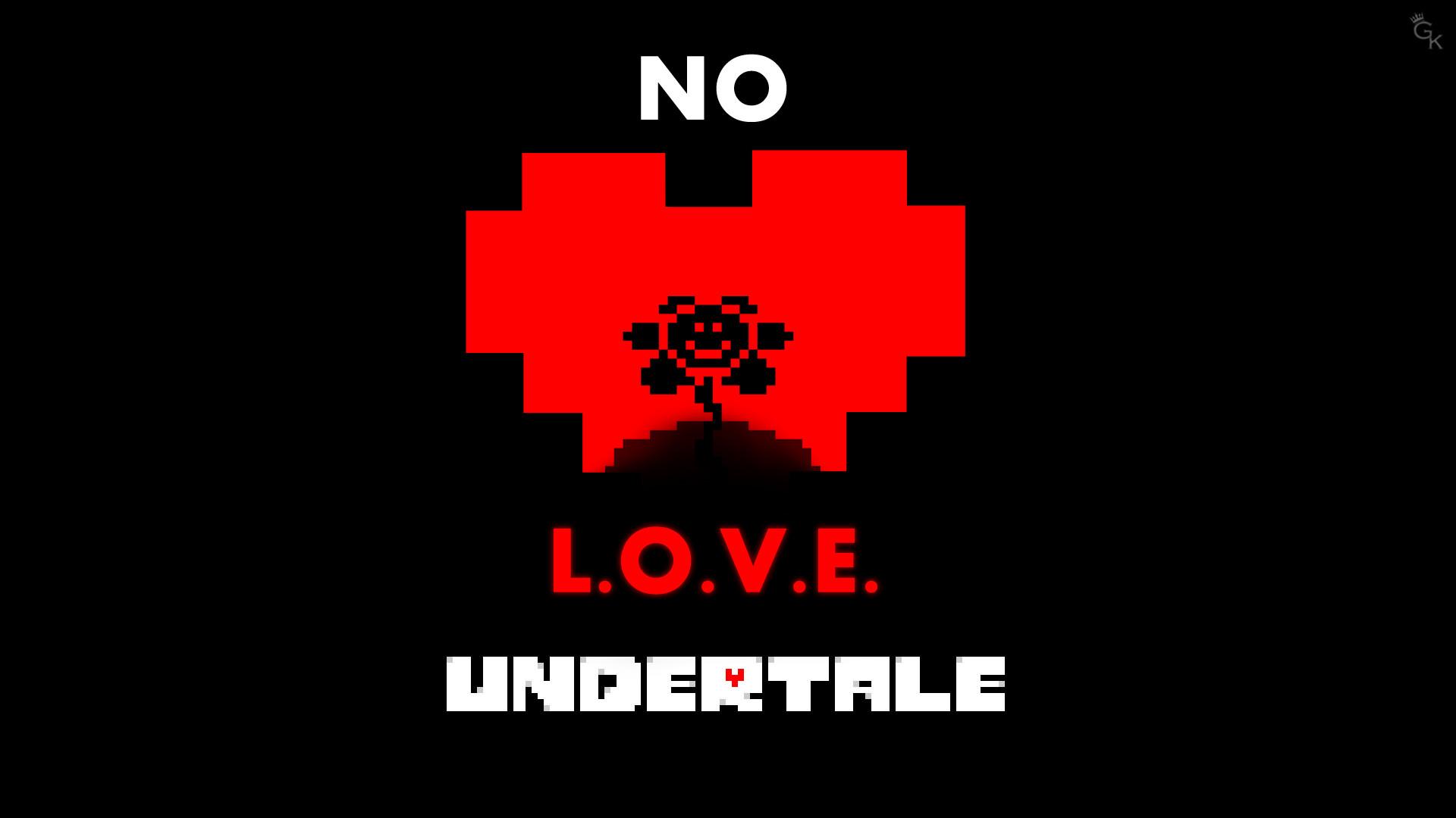 … Undertale Wallpaper (No L.O.V.E.) by General-K1MB0