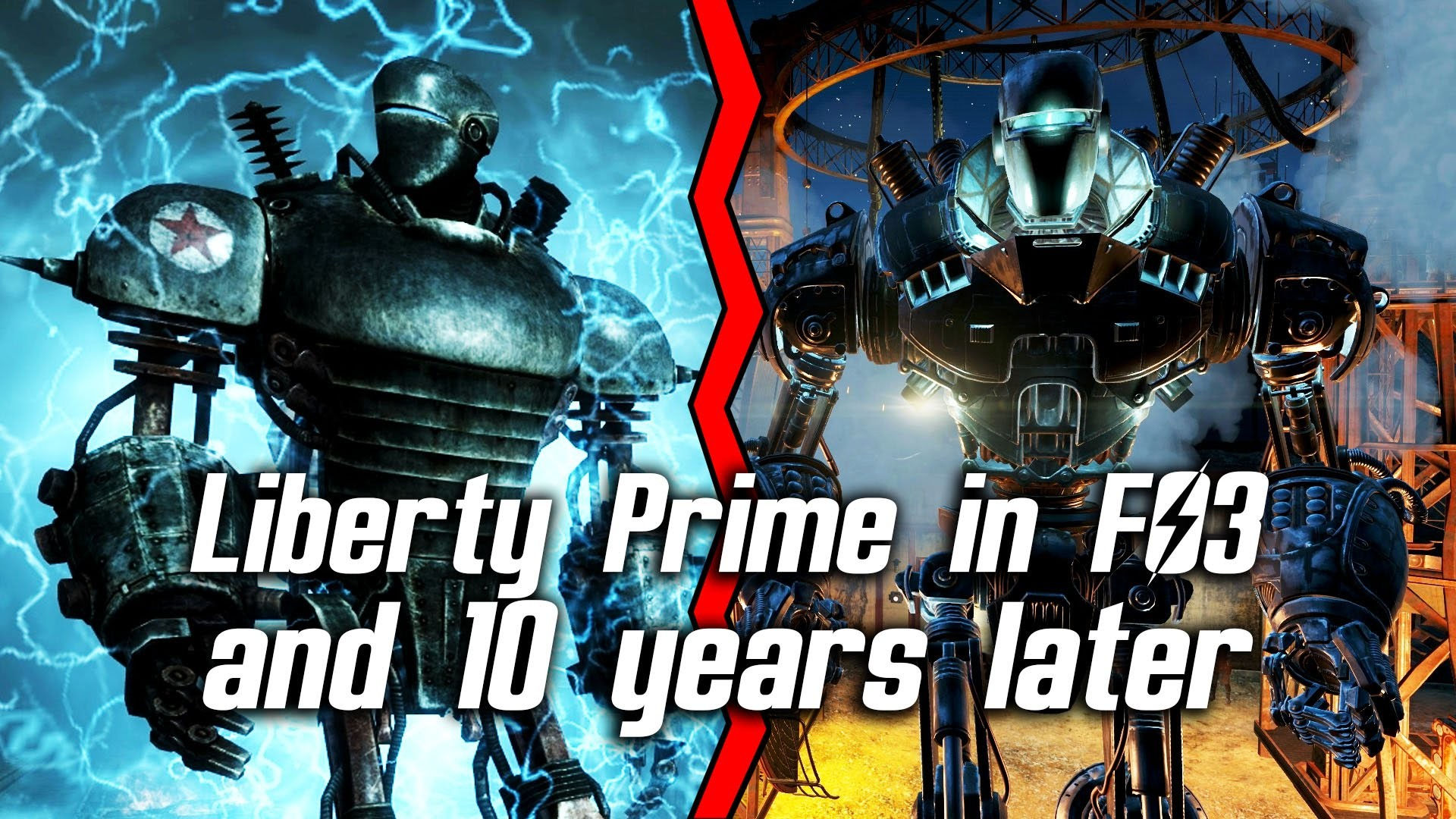 Fallout 4 – Liberty Prime in Fallout 3 and 10 years later in Fallout 4 –  YouTube