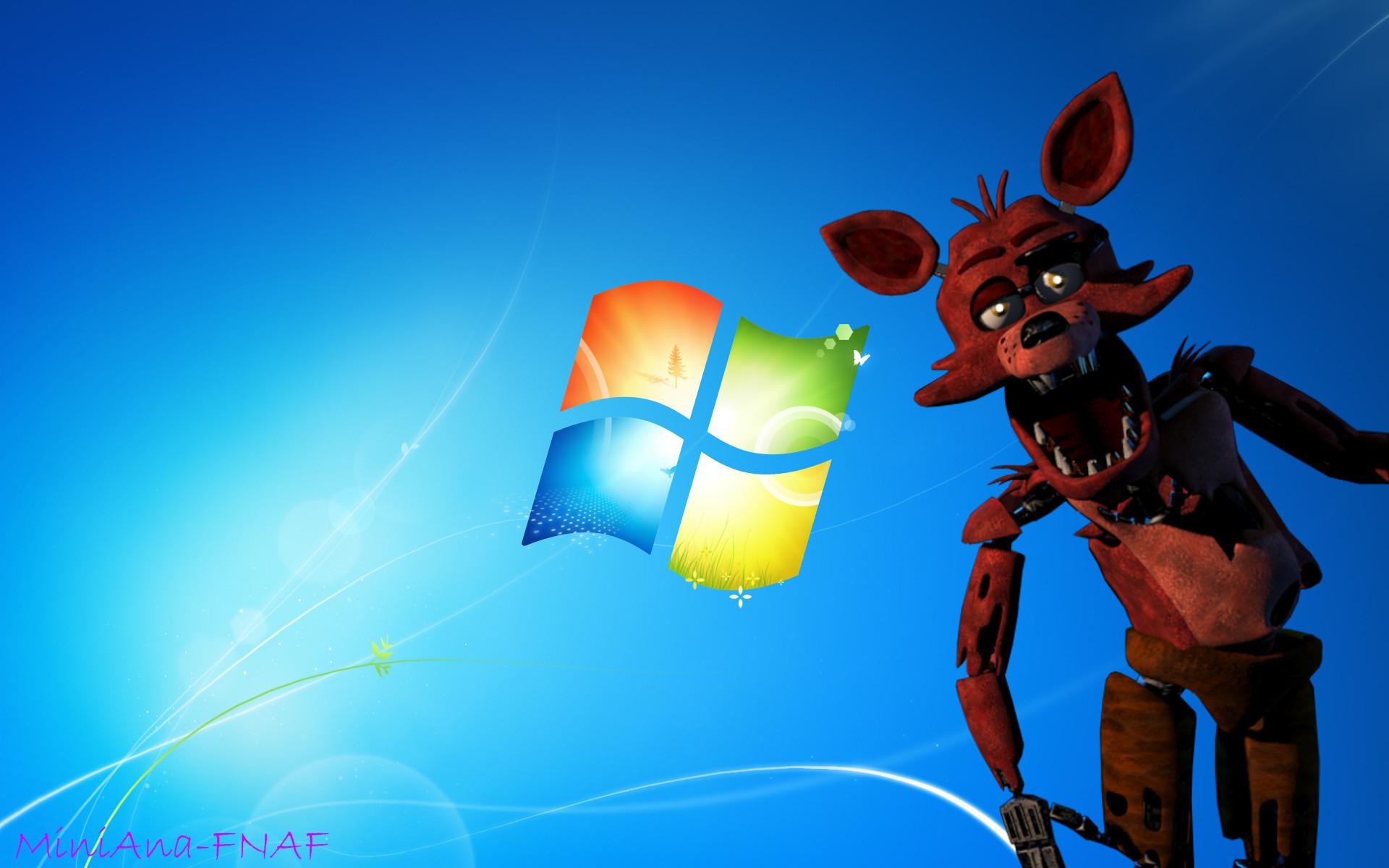 FNAF WALLPAER-Foxy the fox Windows 7 by MiniAna-Fnaf on DeviantArt