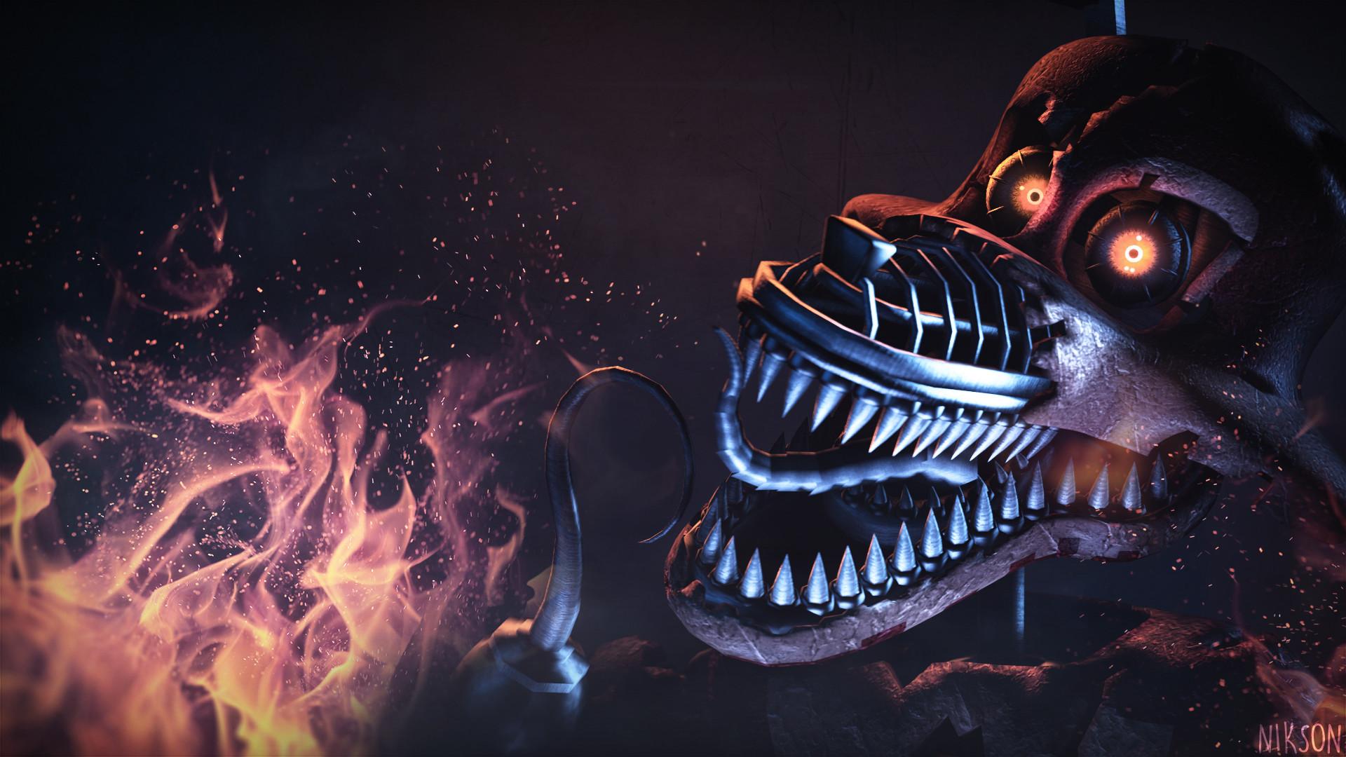 Nightmare Foxy   Wallpaper 1080p …