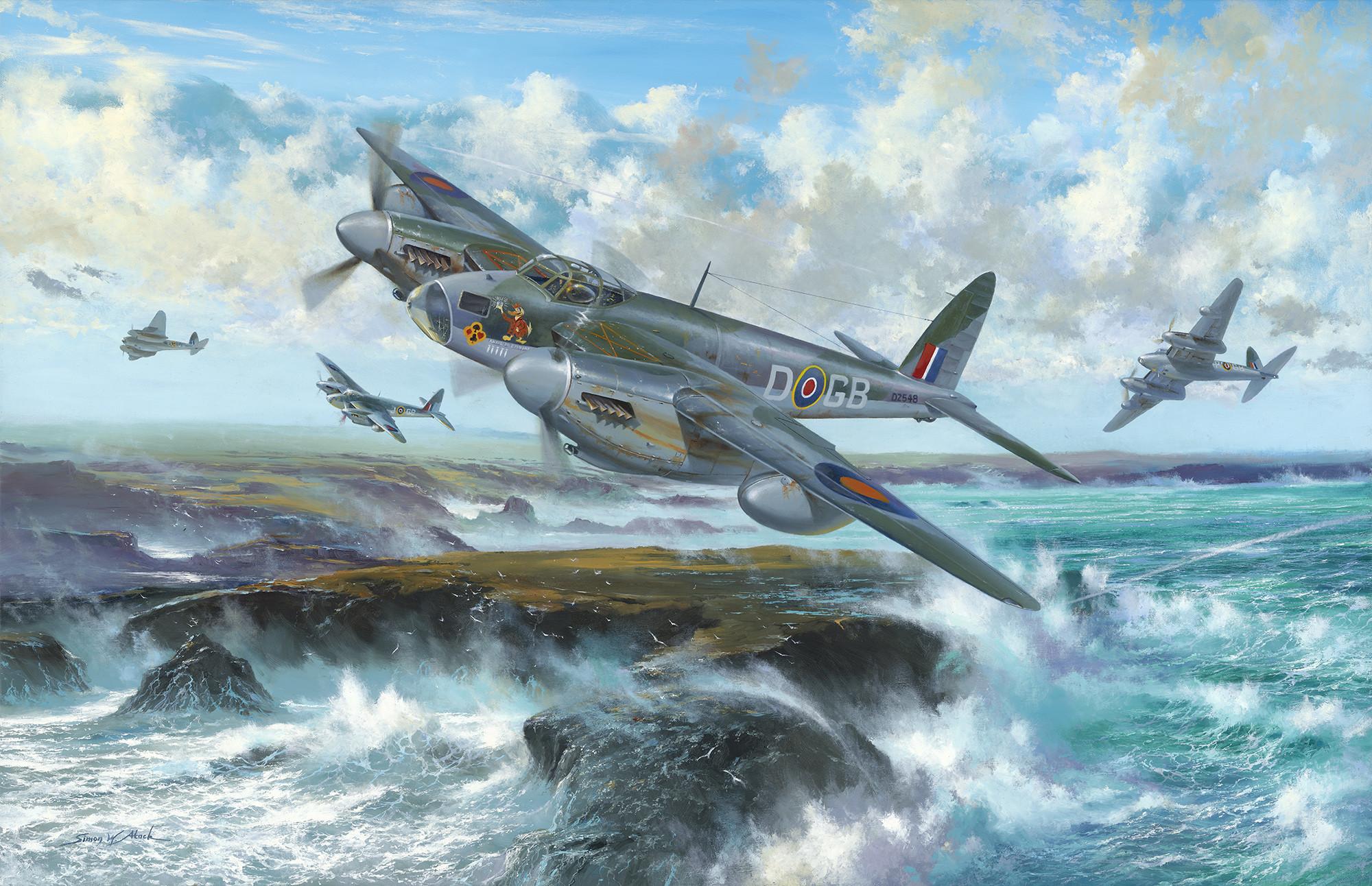 fighter, british aircraft, war, art wallpapers aviation – download .