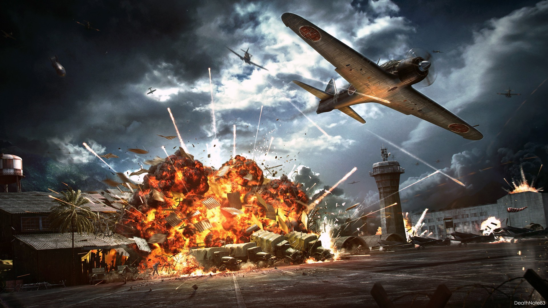Actual Combat Footage WW2 | aircraft, War, battle, plane in the sky  wallpapers