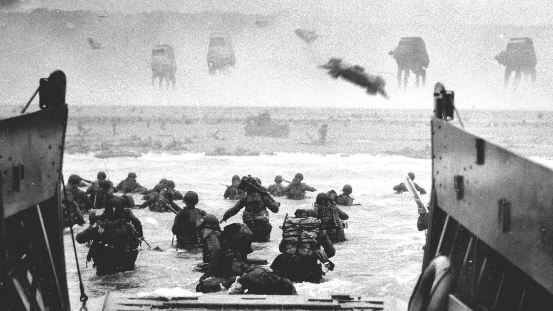 Star Wars, black and white, war, fake, World War II ::