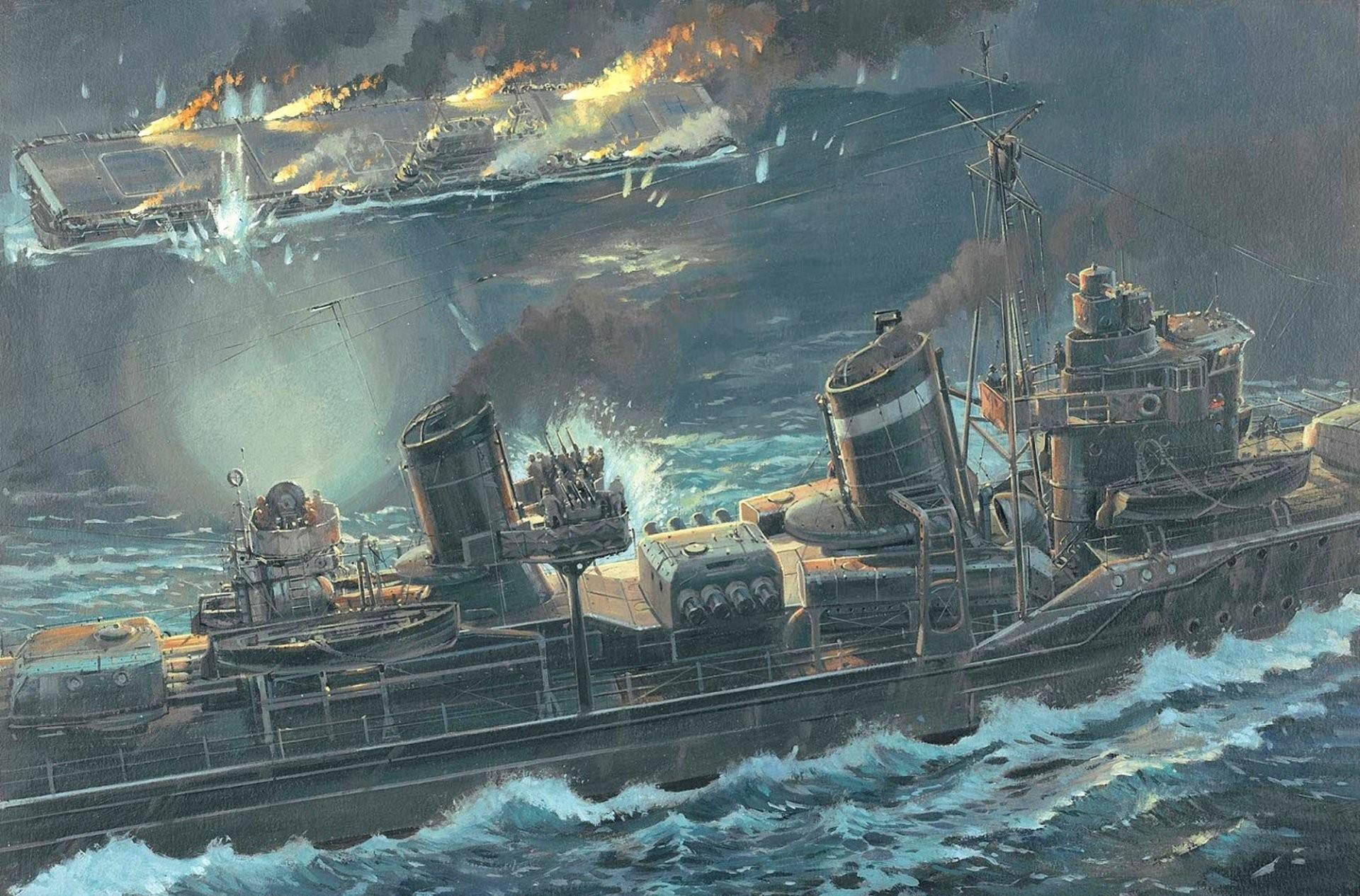art battle of the santa cruz islands october 261942 drowning american  aircraft carrier