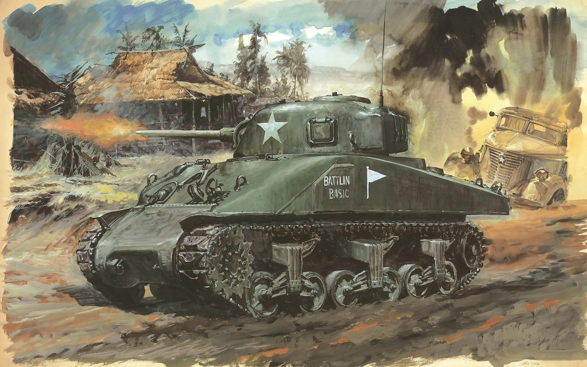 Wallpaper weapons, Japanese, art, WW2, American, soldiers, figure … |  Real Life of WW2 | Pinterest