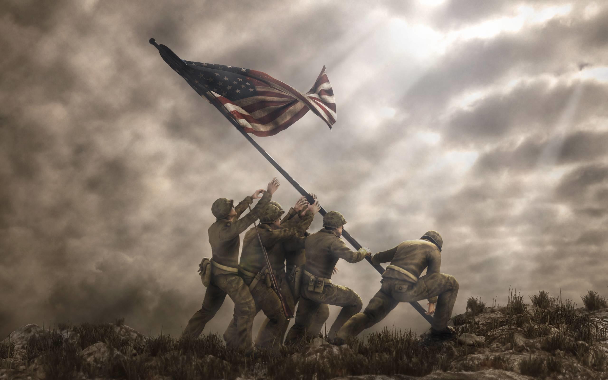 Iwo Jima Flag Raising Wallpapers – Wallpaper Cave