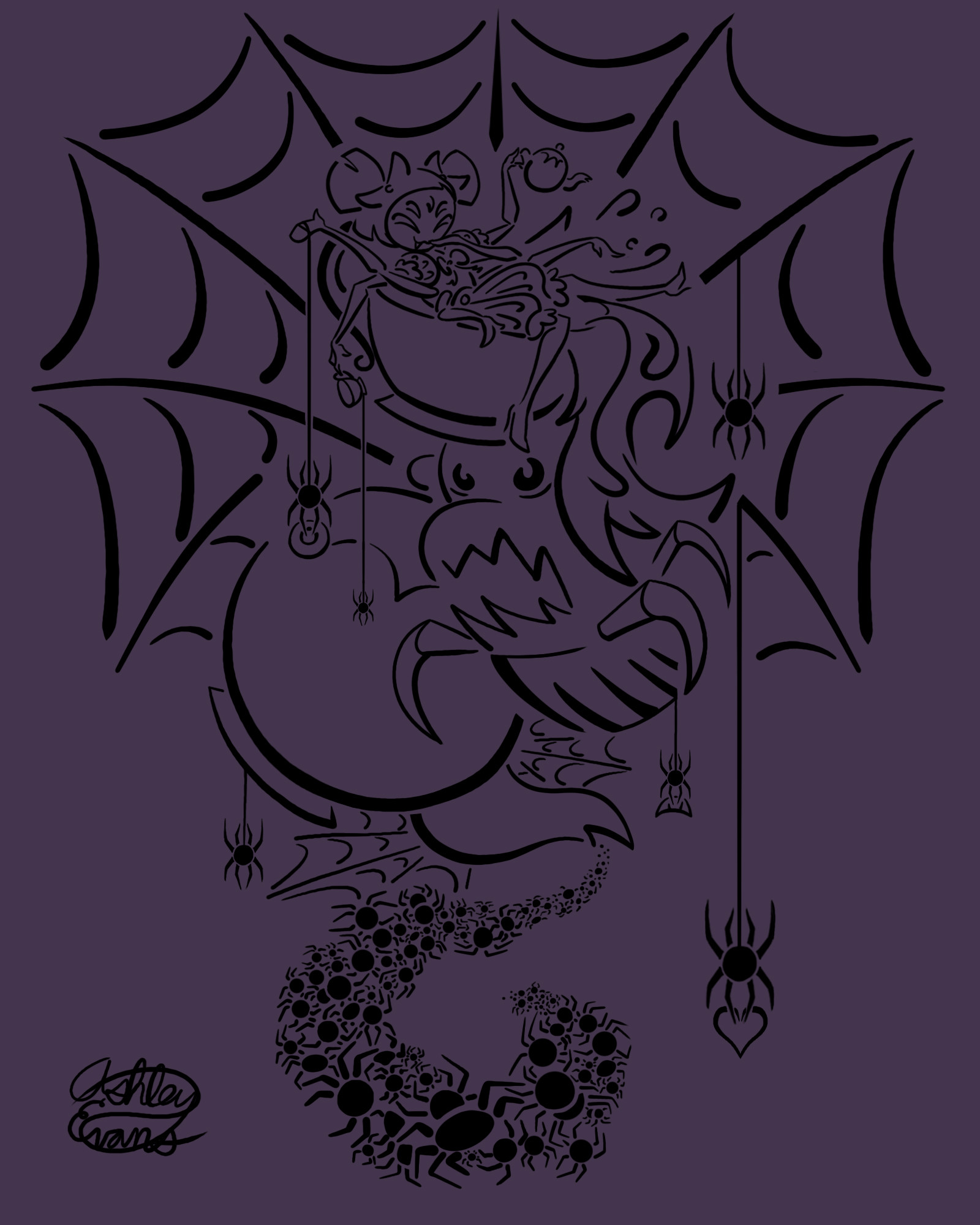 … Undertale Tattoo #6: Muffet by Smooth-Criminal-13