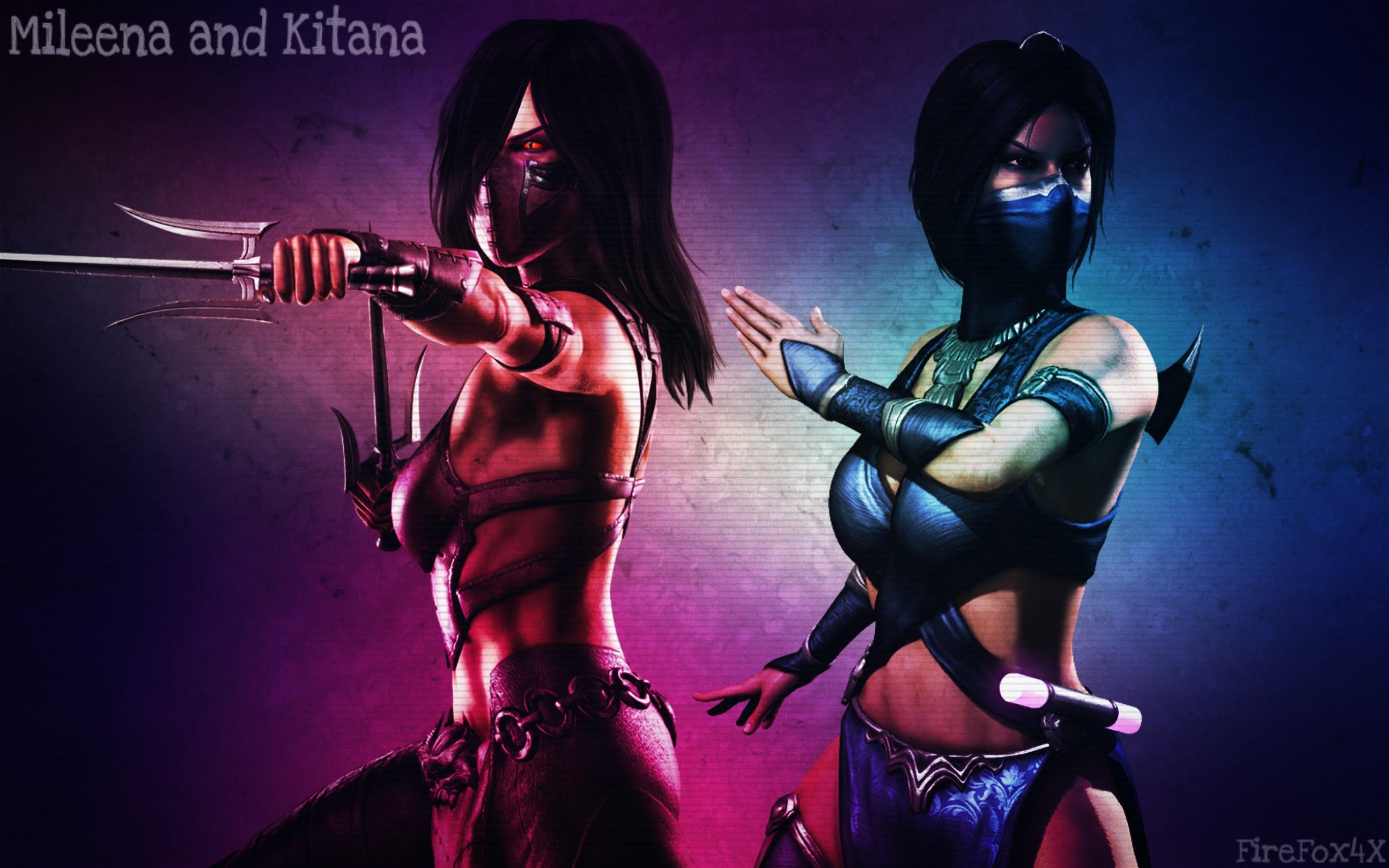 … Mortal Kombat X Mileena and Kitana by FireFox4X