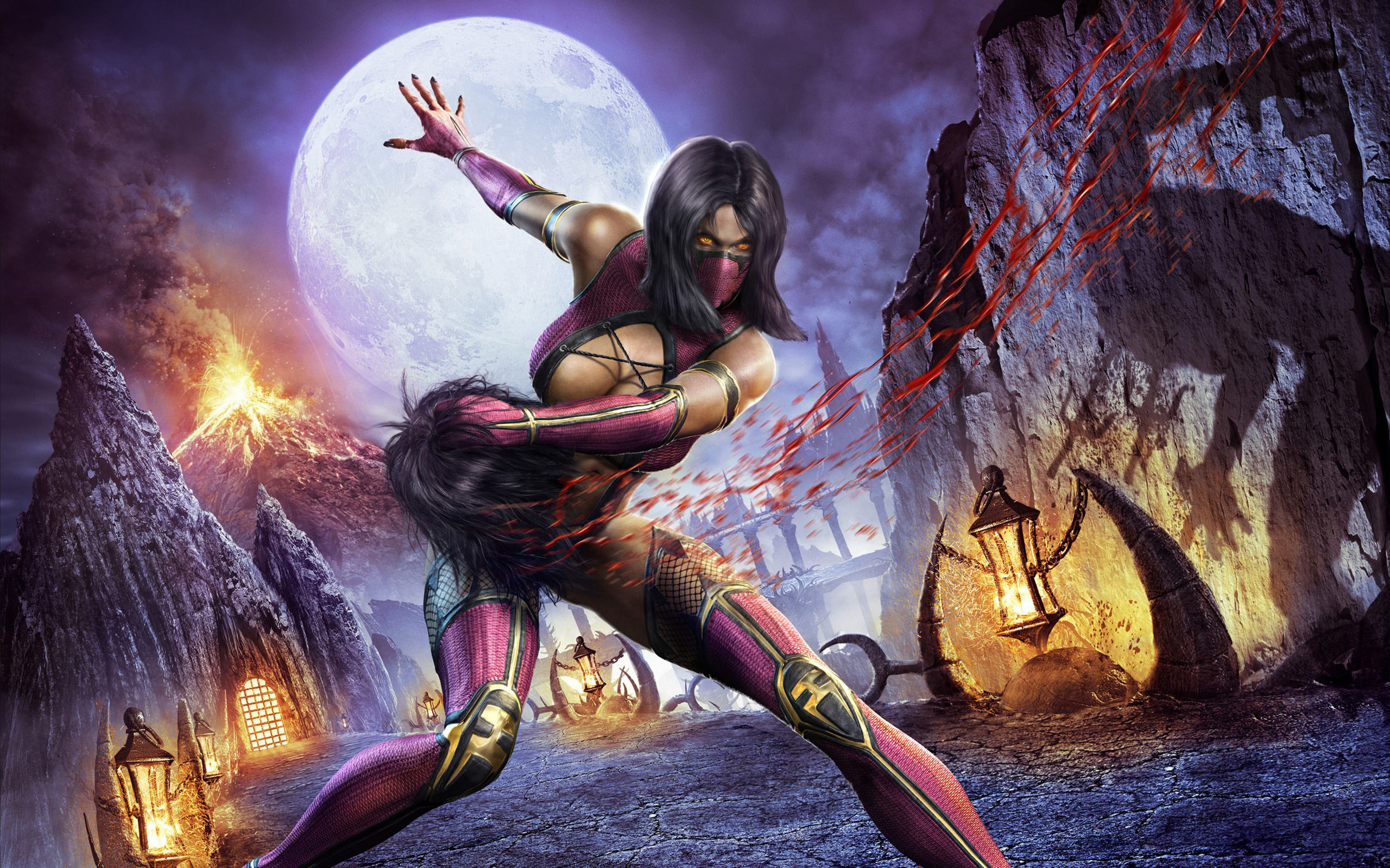Free New Mortal Kombat X Mileena HD Wallpaper because theDesktop Background  Image for yourportable computer,