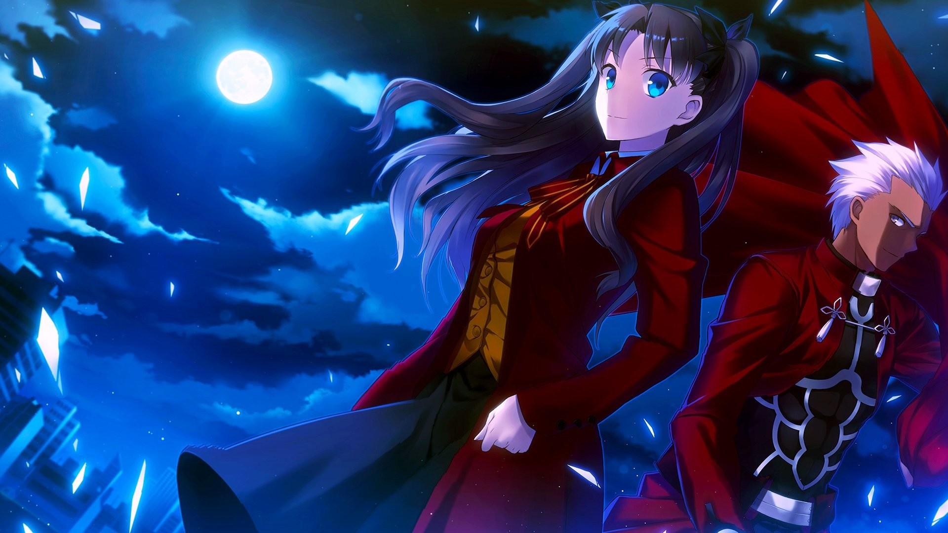 Anime – Fate/Stay Night Archer (Fate/Stay Night) Rin Tohsaka Bakgrund