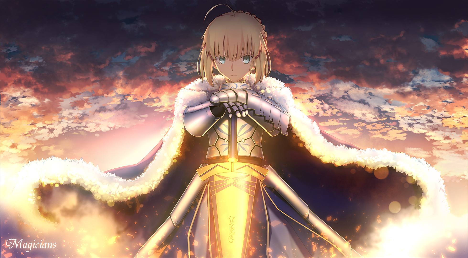 Anime – Fate/Stay Night Saber (Fate Series) Wallpaper