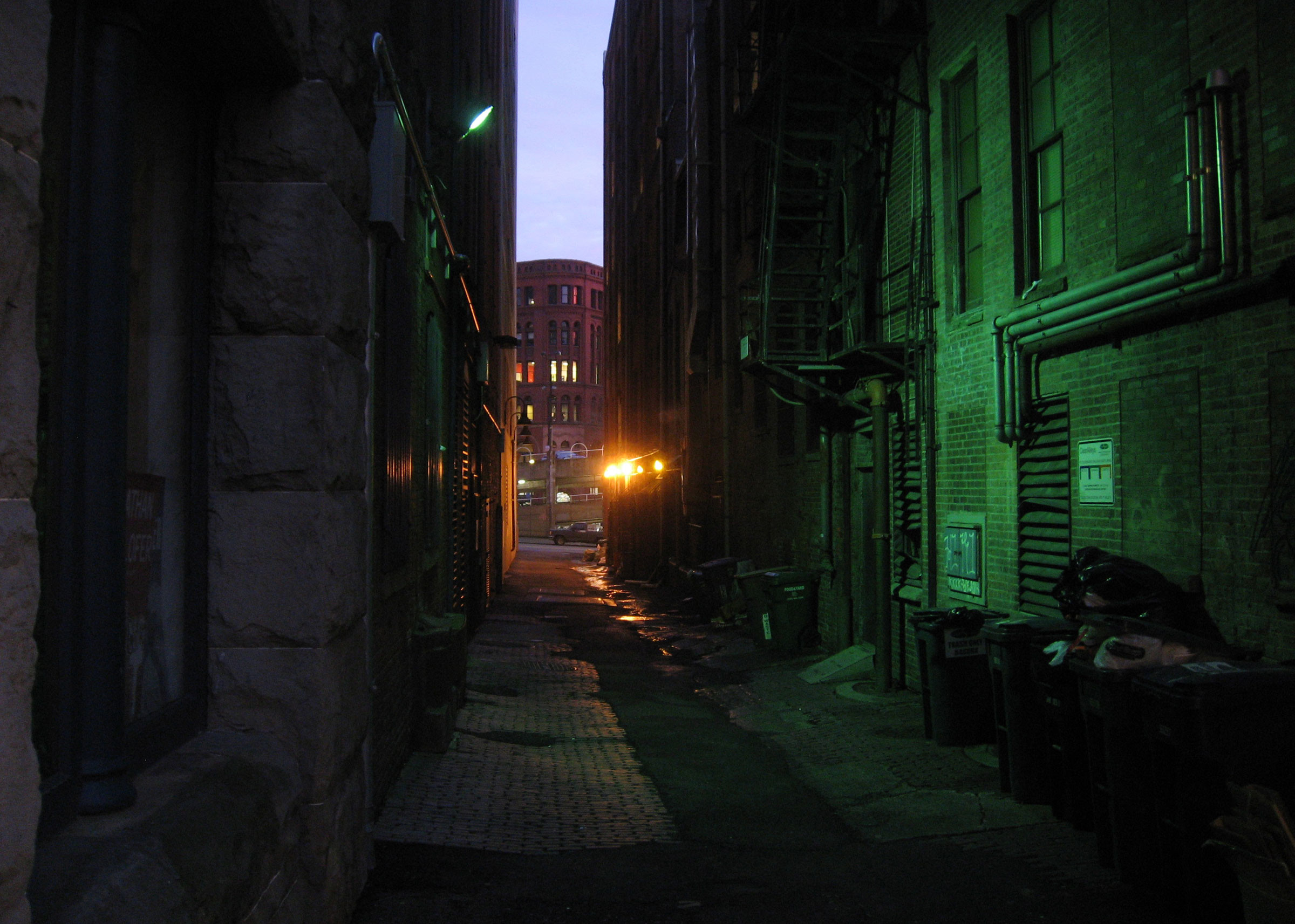 Cool alleyway in sweltering town