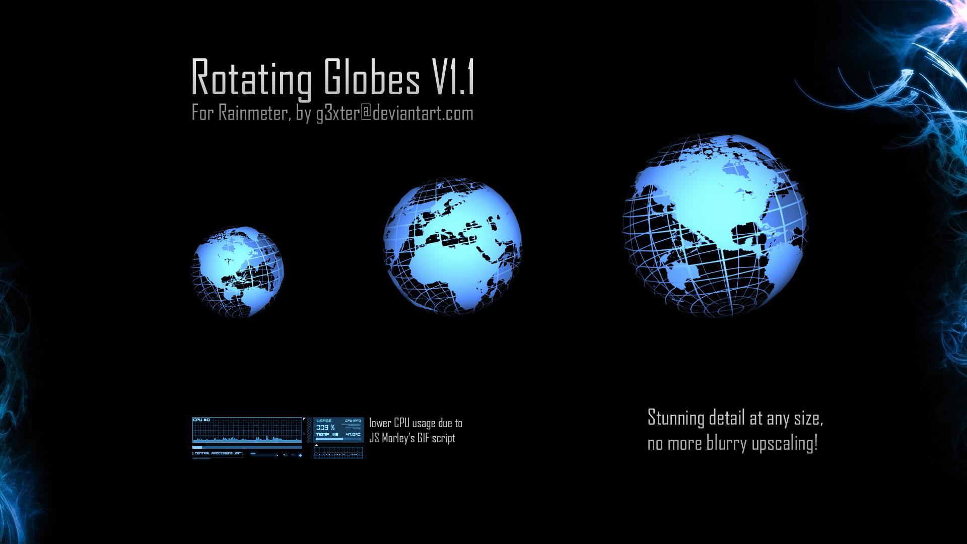 … Rotating Globes V1.1 by g3xter