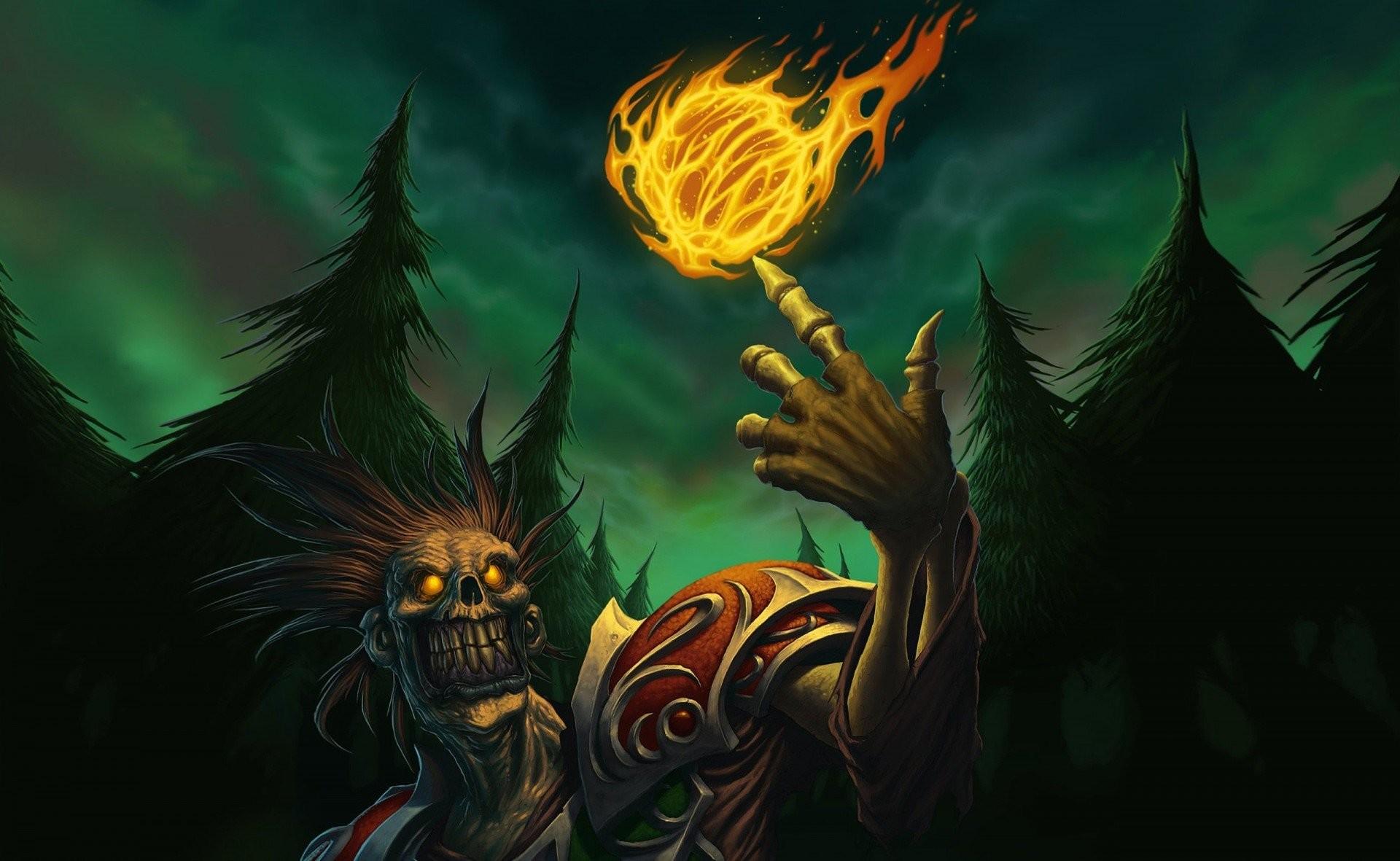 world of warcraft wow undead fireball