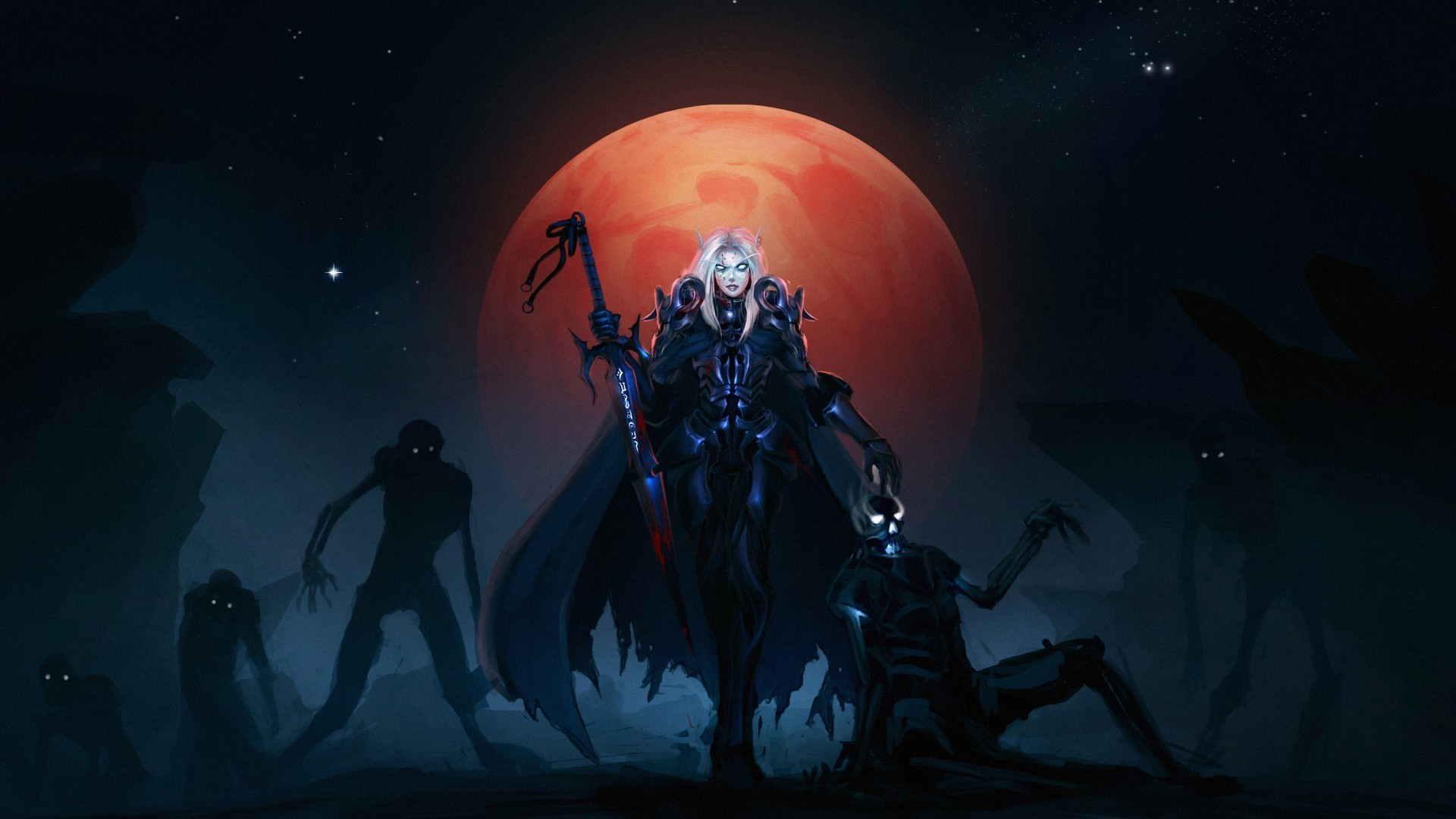 moon, Undead, World Of Warcraft, Blood Elf Wallpapers HD / Desktop and  Mobile Backgrounds