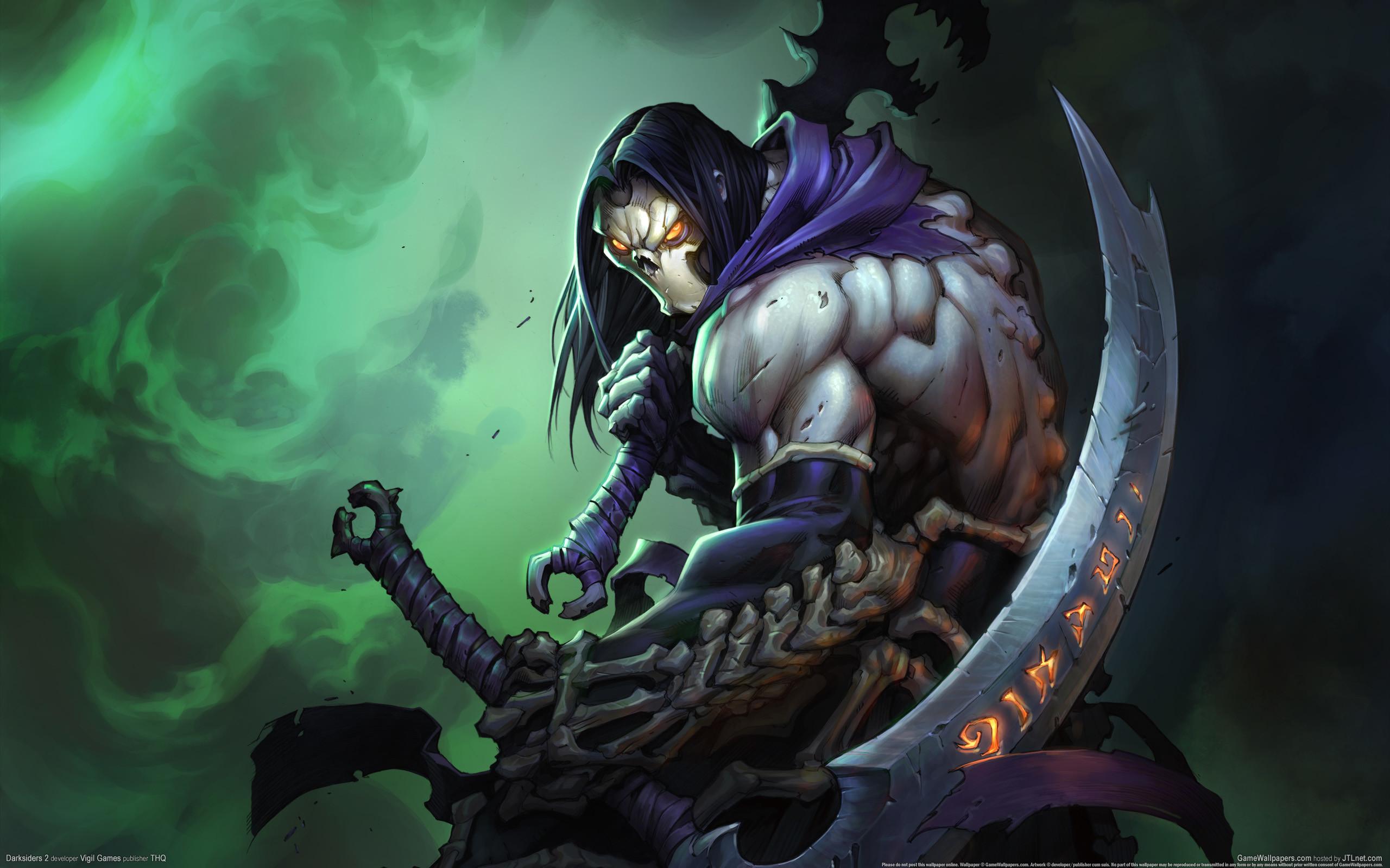 Darksiders II Undead Warriors Scythe Games grim reaper dark fantasy weapon  e wallpaper background
