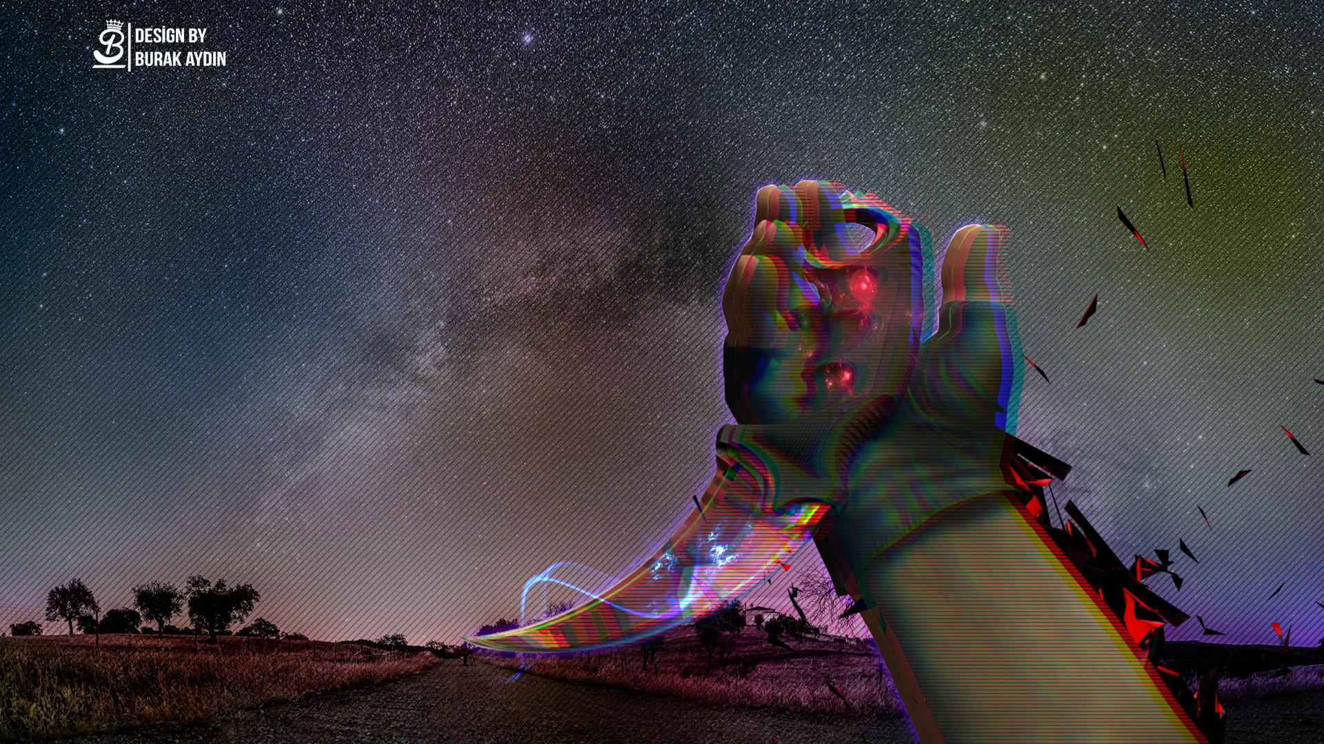 CS:GO Space Karambit – Wallpaper