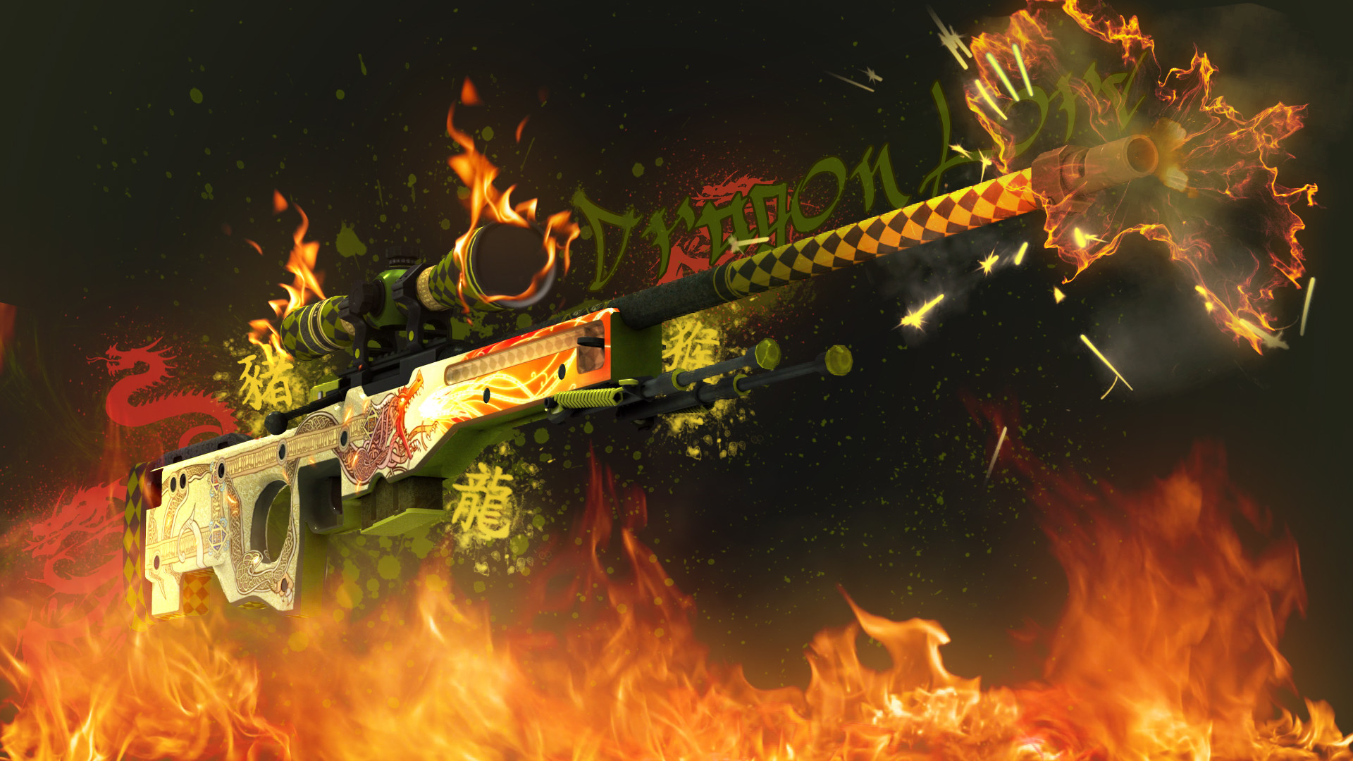 AWP Dragon Lore | CS:GO Wallpapers