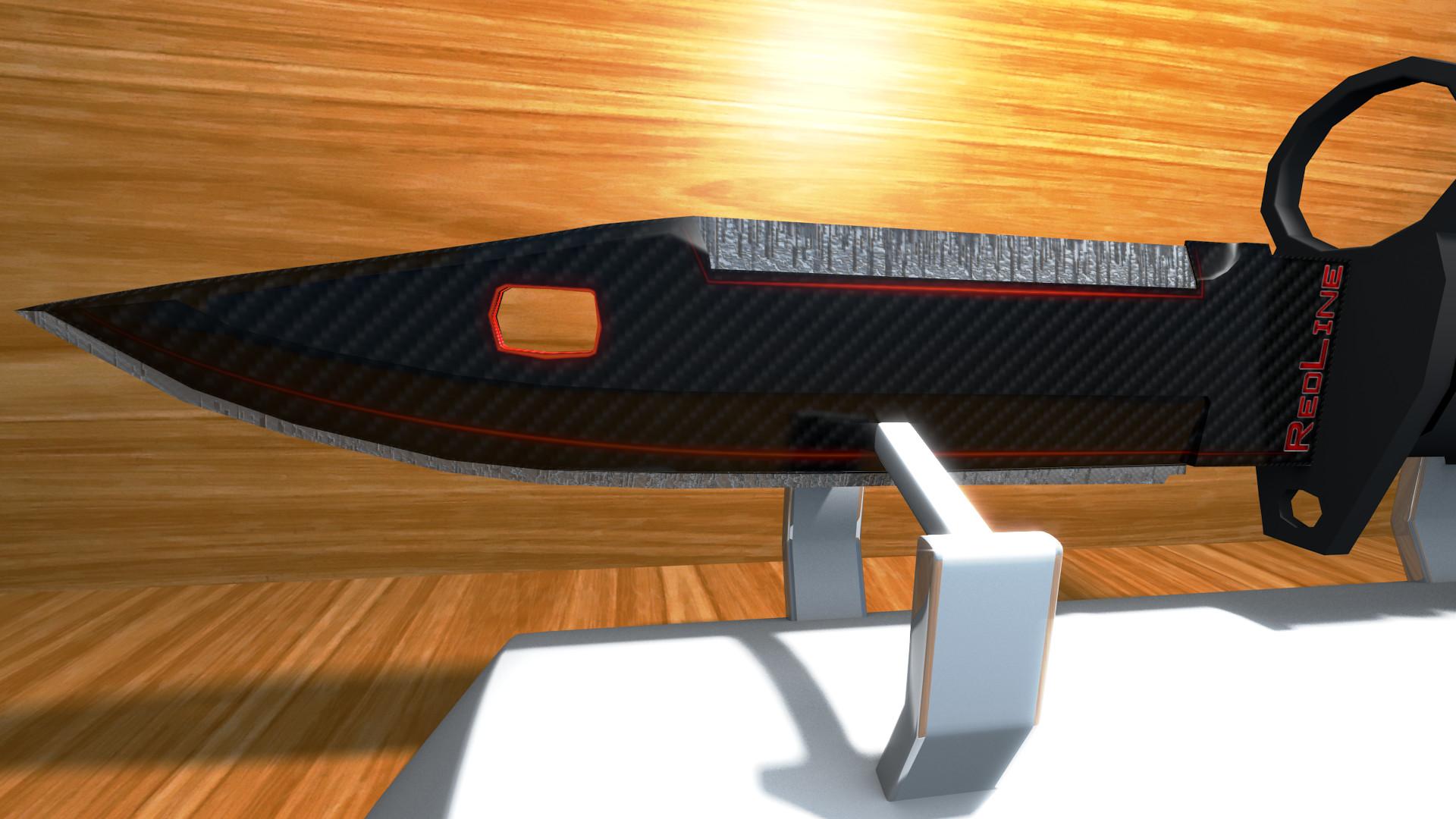 … M9 Bayonet Redline (Concept Art – CS:Go Skin) by Fineline321