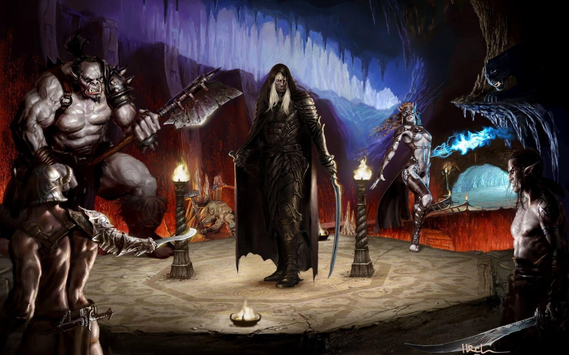 … fantasy art warriors Drizzt dark elves wallpaper …