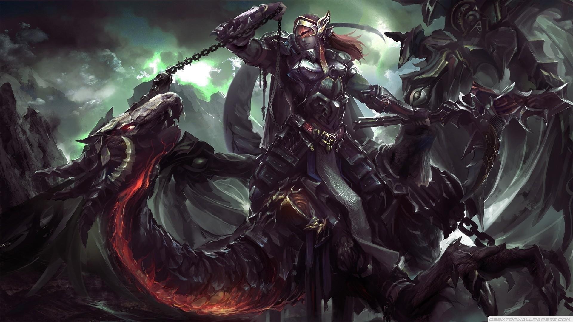 horror art   Dragons Knights Horror Fantasy Art Artwork 1920×1080 Wallpaper