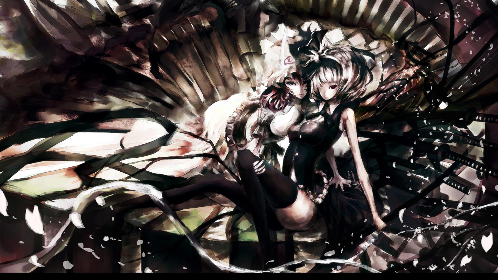Anime – Touhou Youmu Konpaku Yuyuko Saigyouji Bakgrund