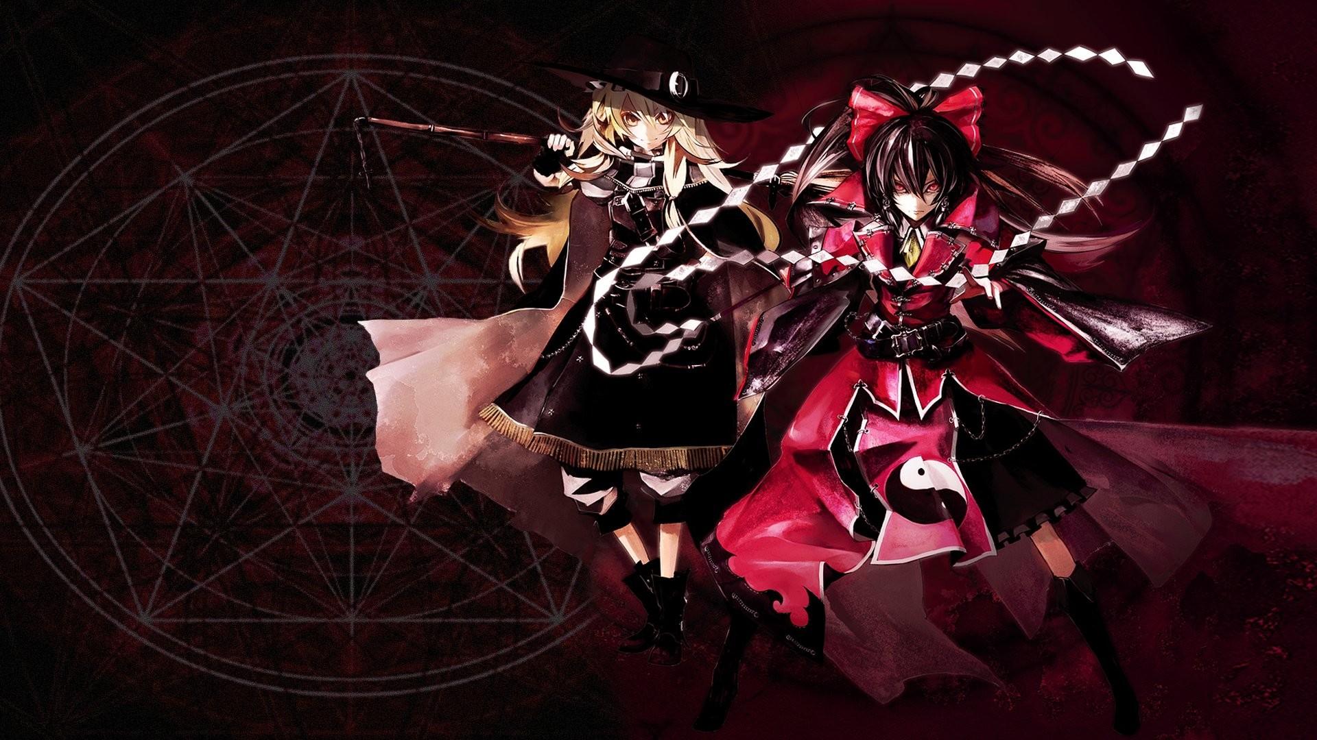 Anime – Touhou Reimu Hakurei Marisa Kirisame Wallpaper