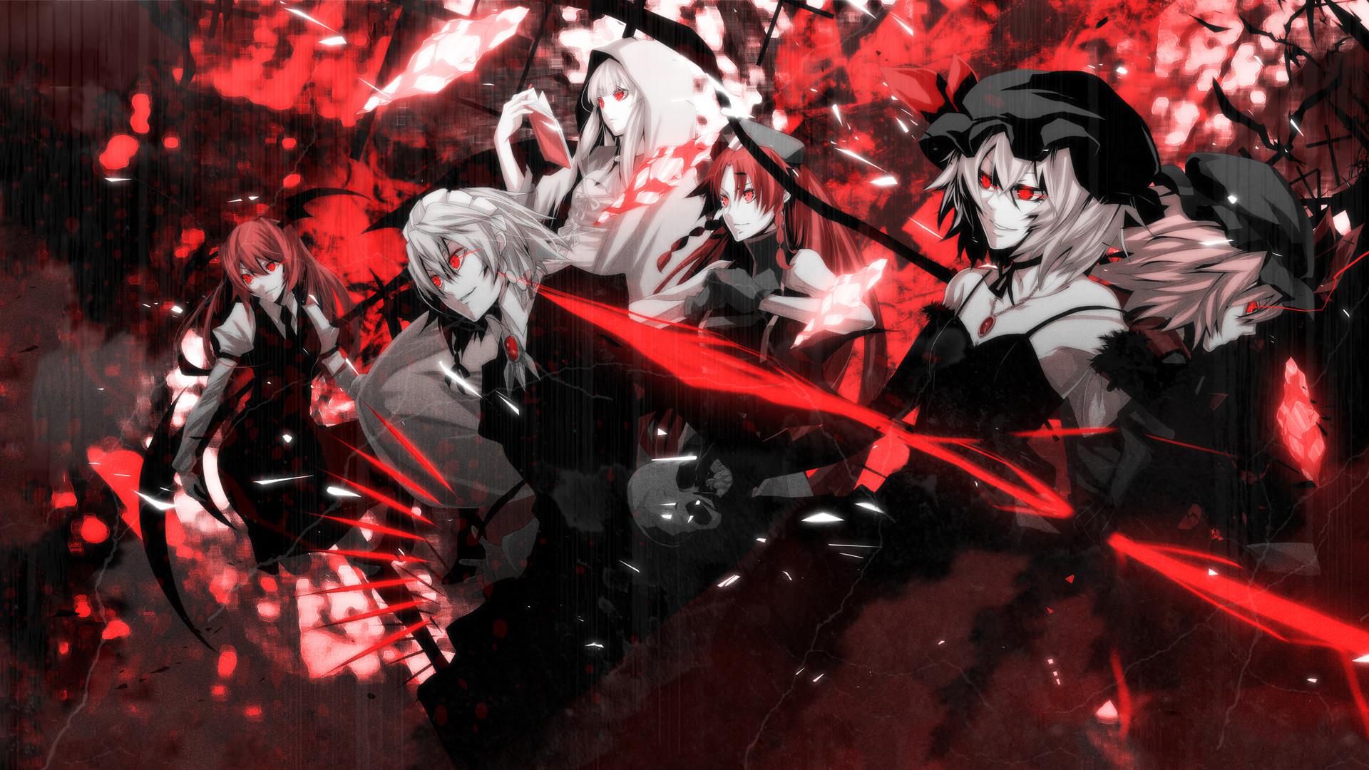 Anime – Touhou Hong Meiling Patchouli Knowledge Sakuya Izayoi Flandre  Scarlet Remilia Scarlet Wallpaper