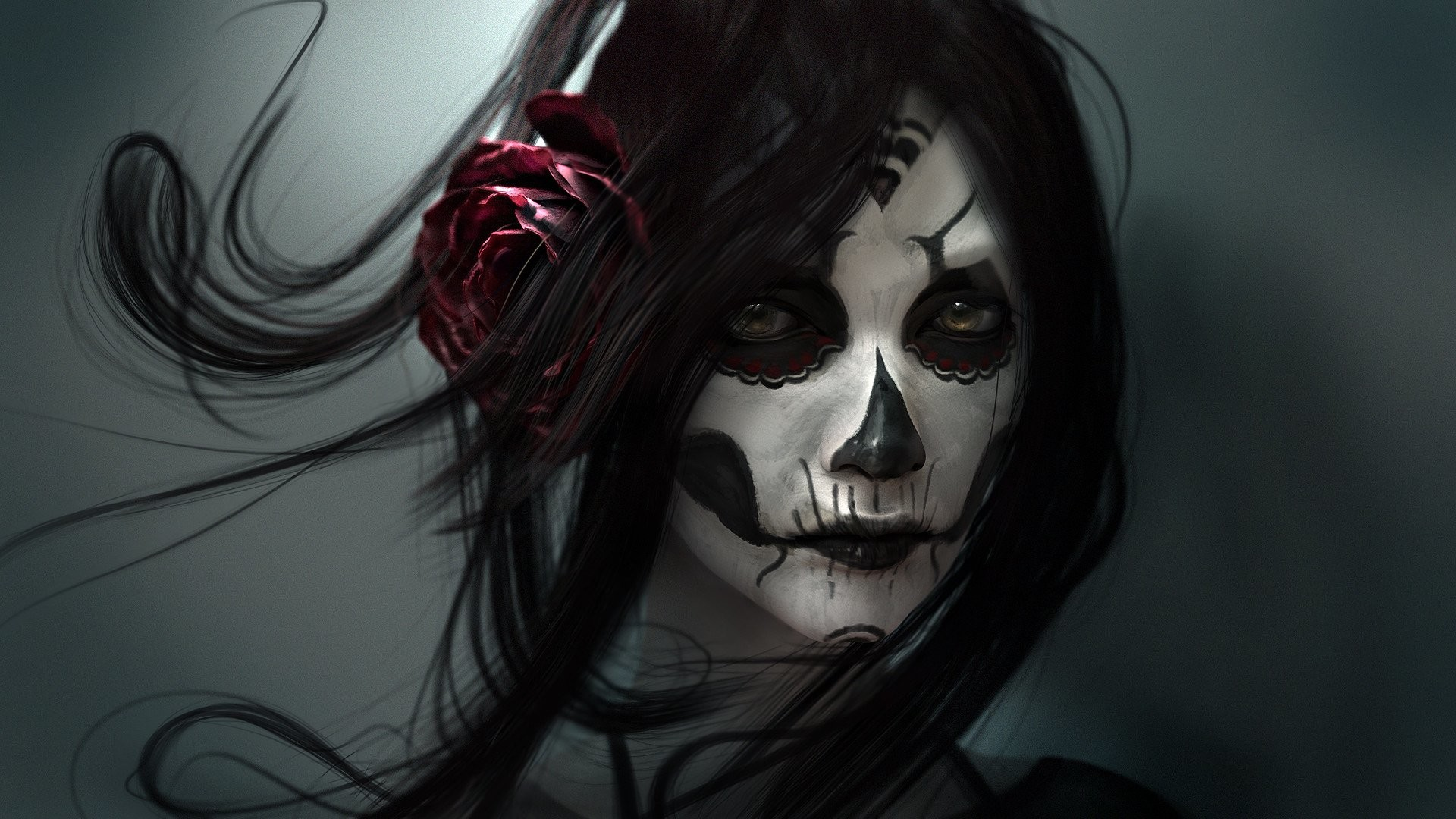 HD Wallpaper   Background ID:434058. Artistic Sugar Skull