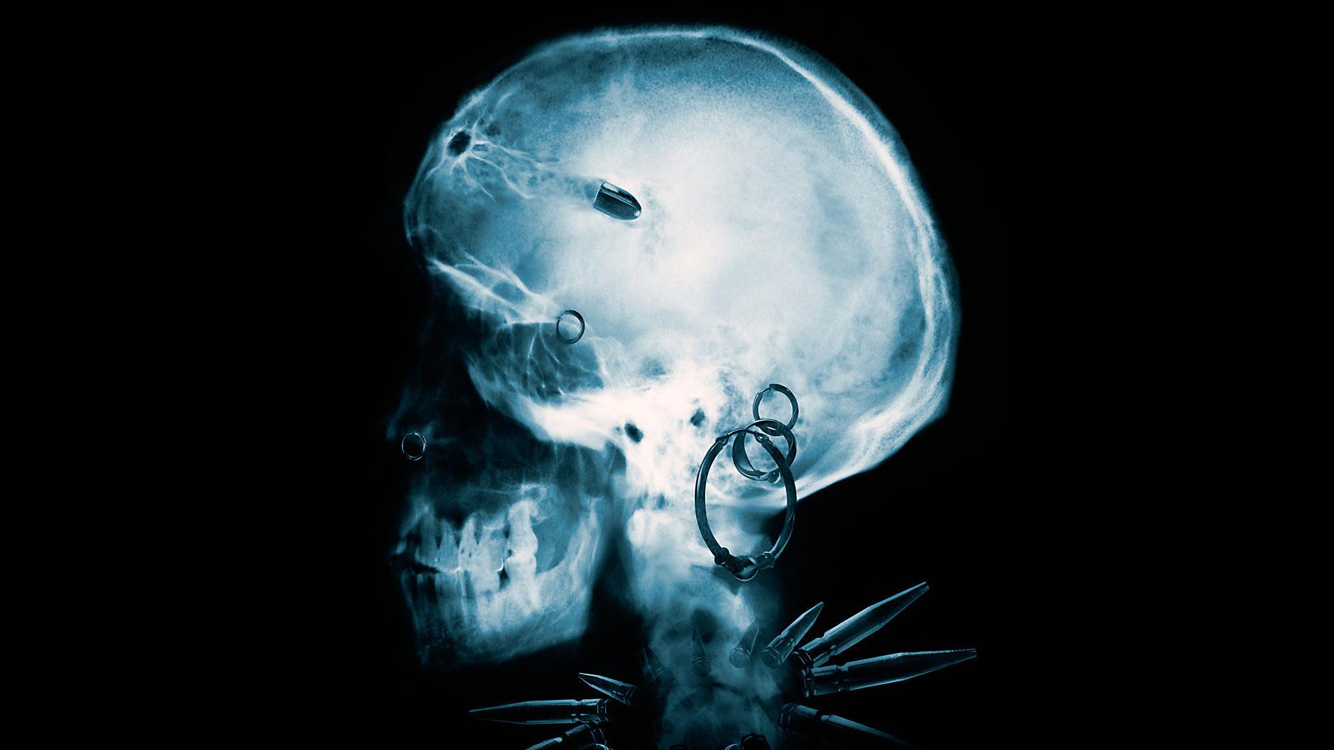 GIRL WHO KICKED THE HORNETS NEST x-ray skull skulls dark horror .