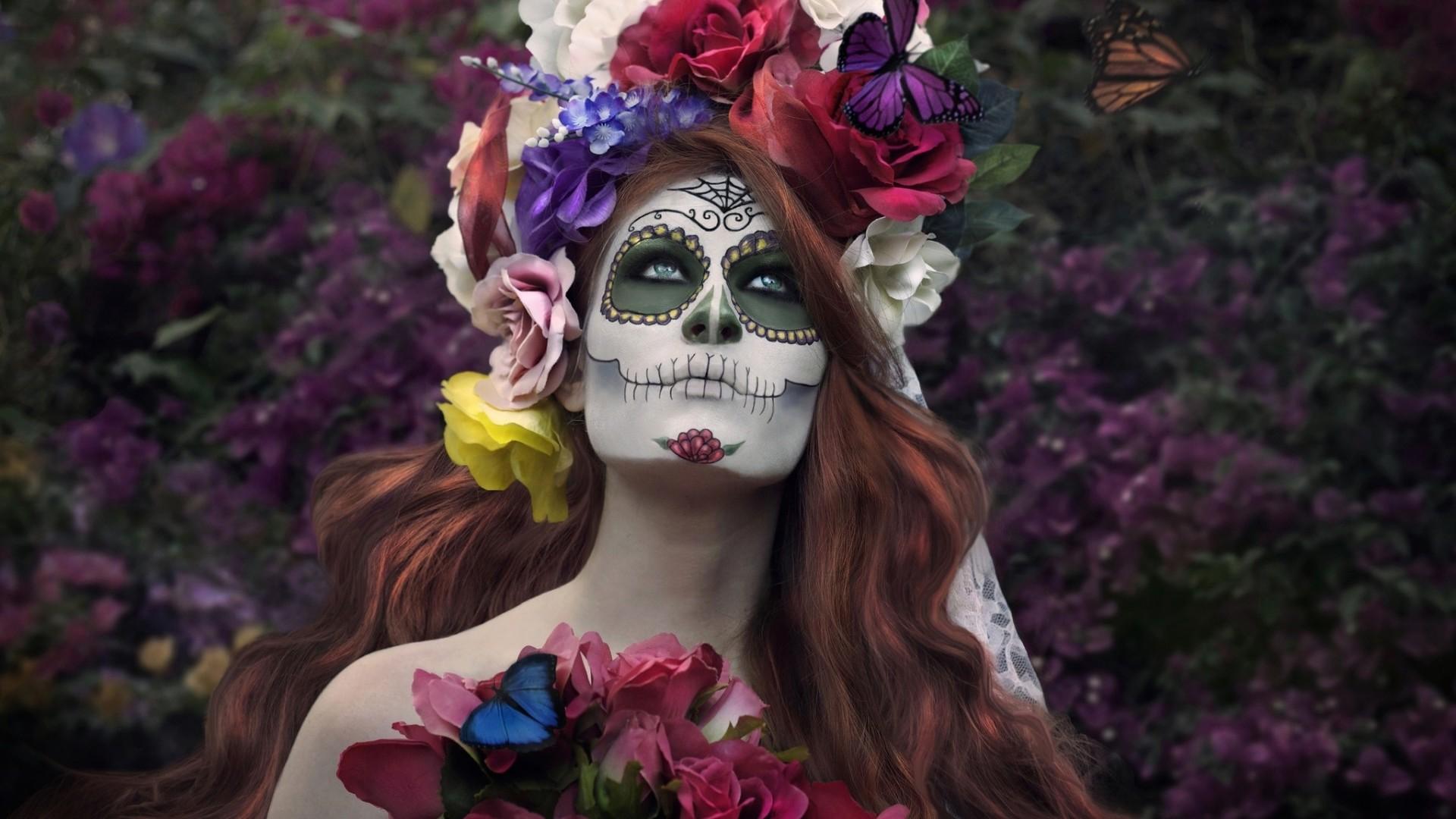 Sugar Skull Make-up HD Wallpaper Sugar …