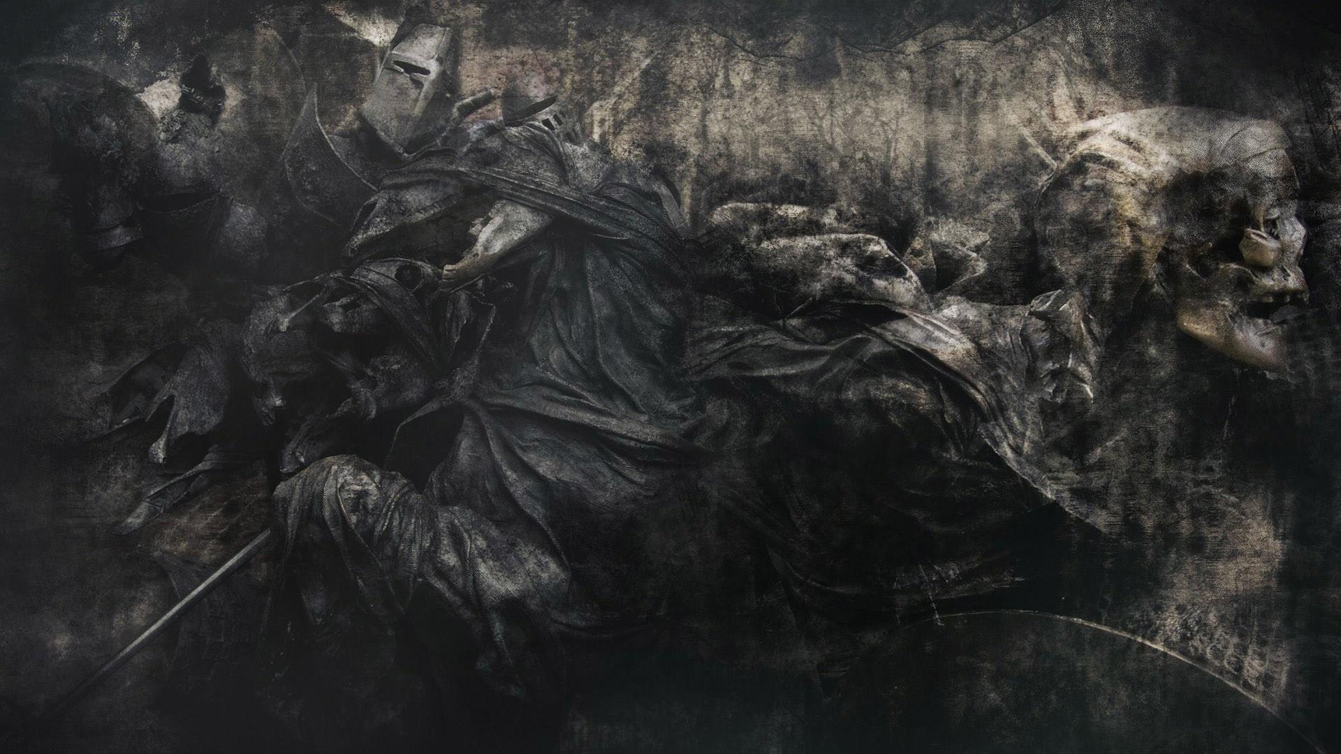 skulls evil skeleton reaper grim horror dead death gothic wallpaper .