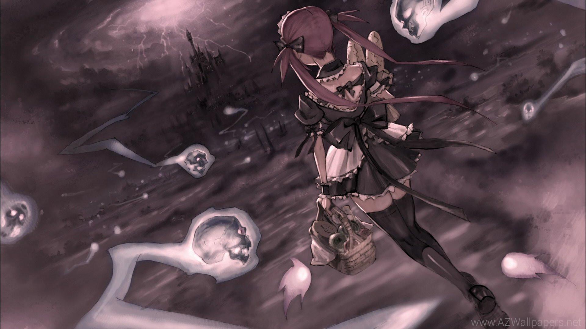 Queen's Blade Anime Girl Skull Wallpapers