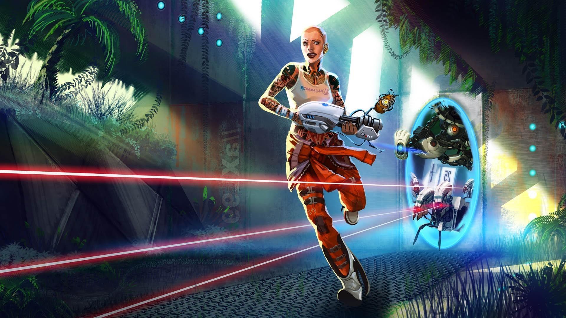 Portal 2, Valve Corporation, GLaDOS, Aperture Laboratories, Video Games,  Turrets, Mass Effect 2, Jack Wallpapers HD / Desktop and Mobile Backgrounds